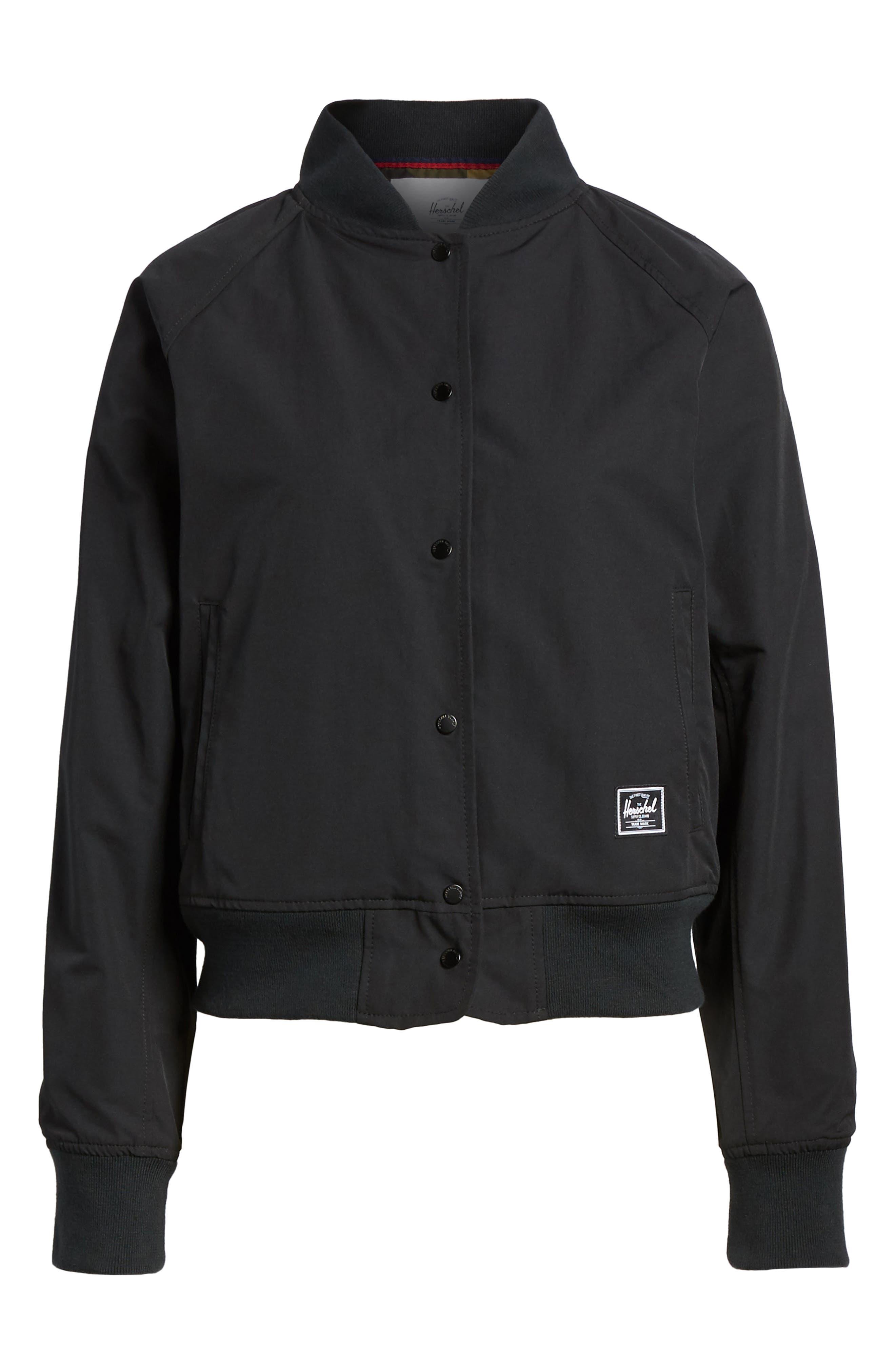 Varsity Jacket,                             Alternate thumbnail 7, color,                             Black/ Shadow