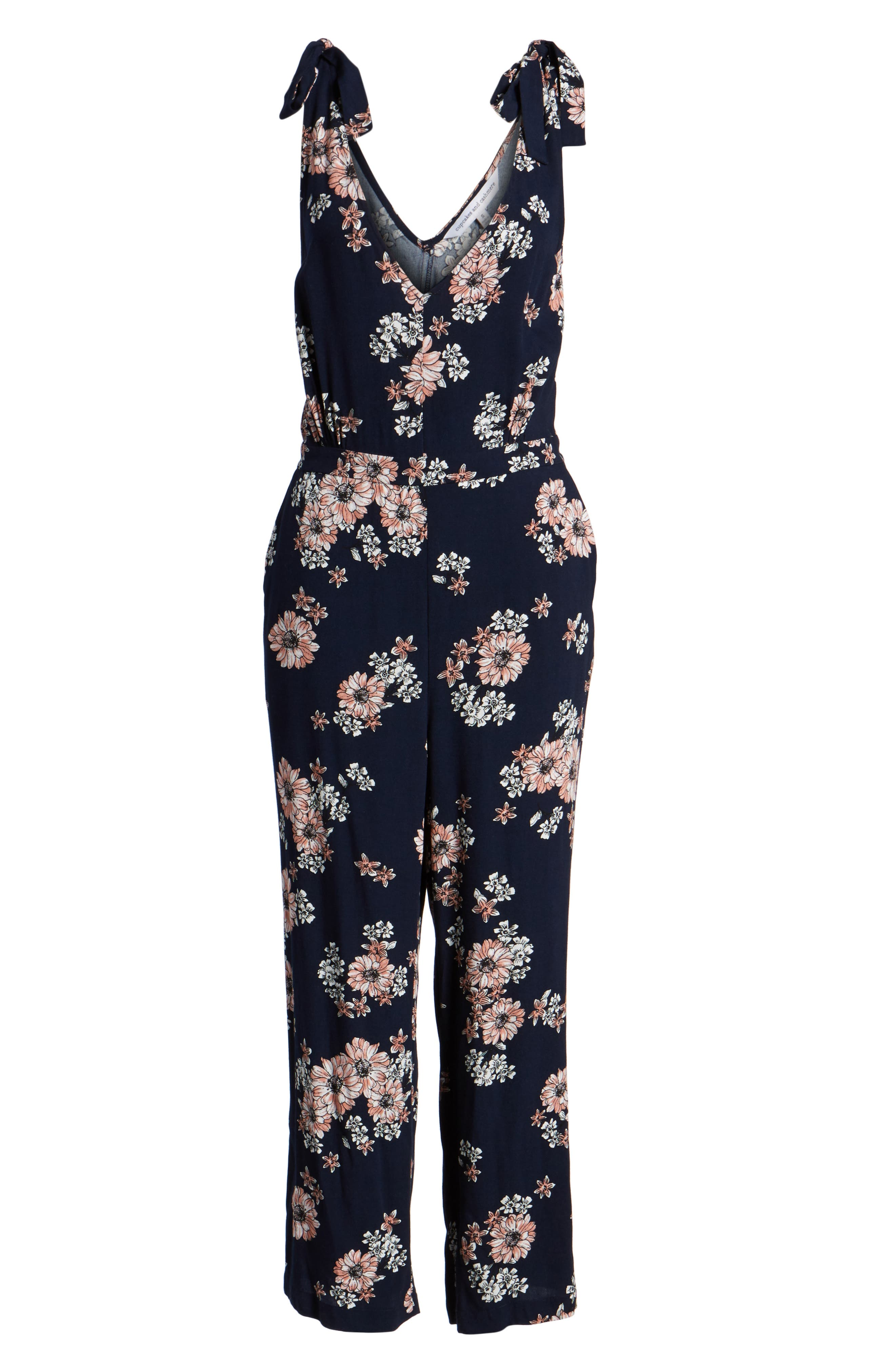Alternate Image 6  - cupcakes and cashmere Lili Floral Jumpsuit