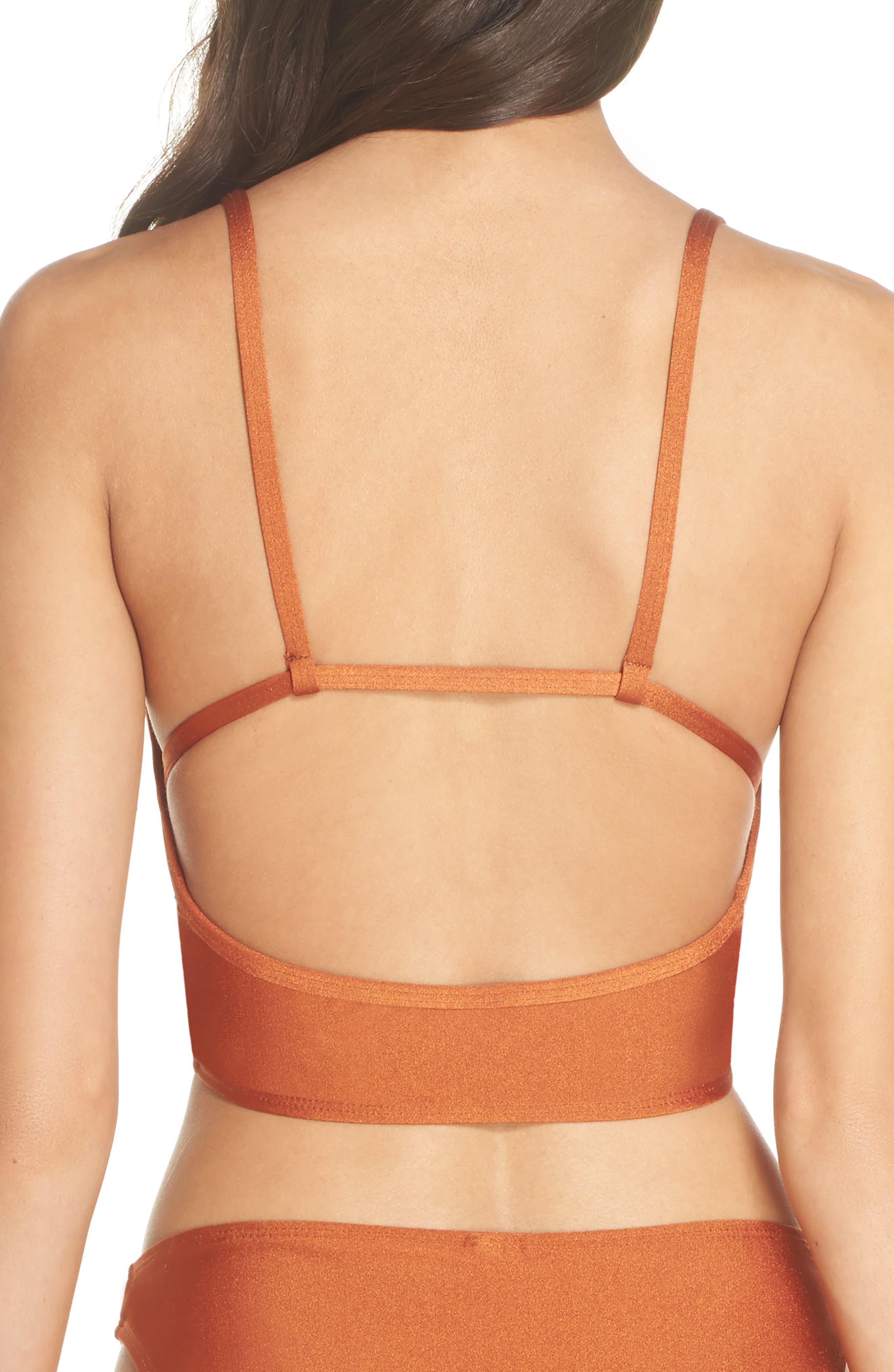 Horizon Bikini Top,                             Alternate thumbnail 2, color,                             Ginger Orange