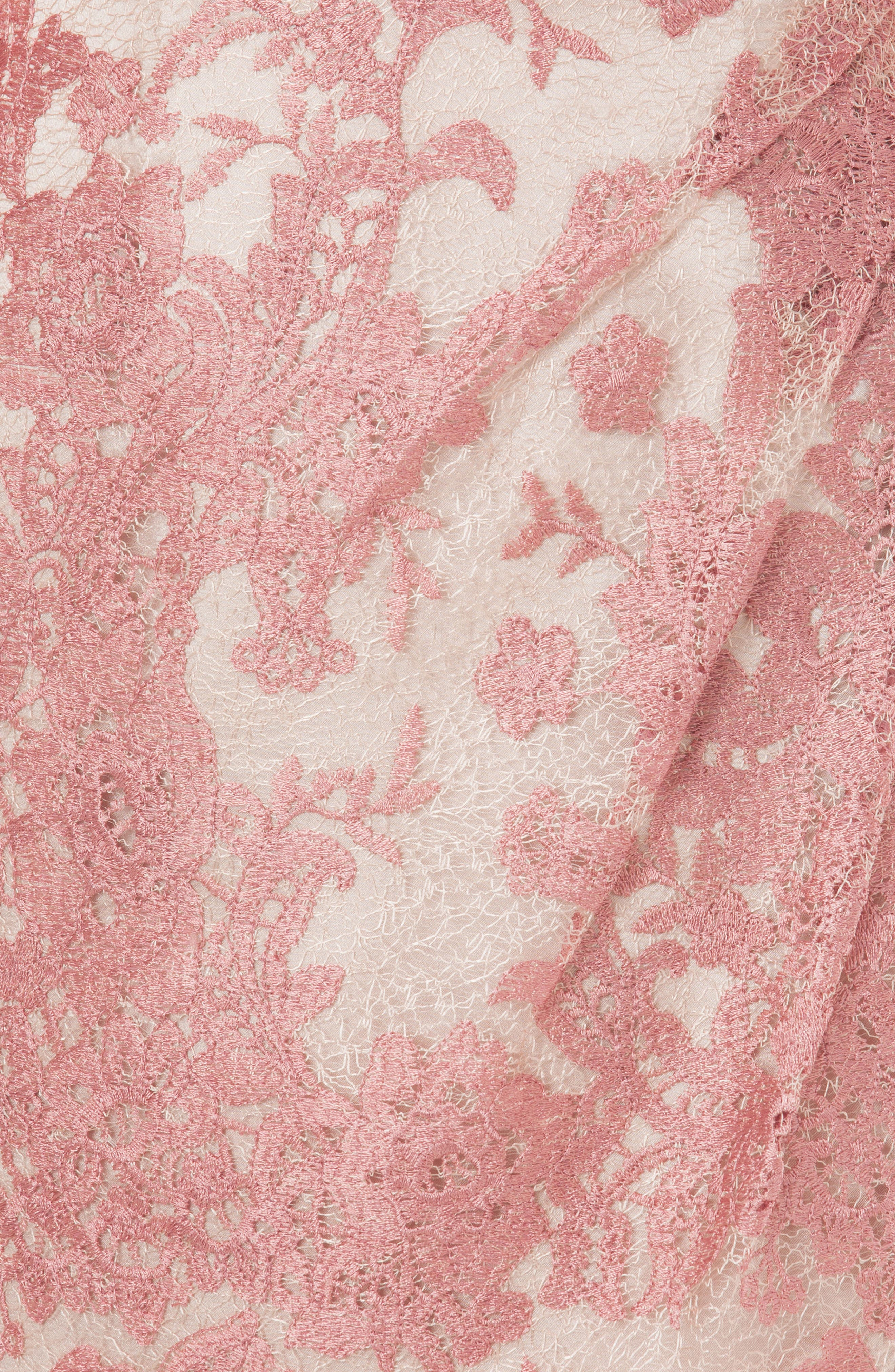 Embroidered Lace Gown,                             Alternate thumbnail 3, color,                             Pink
