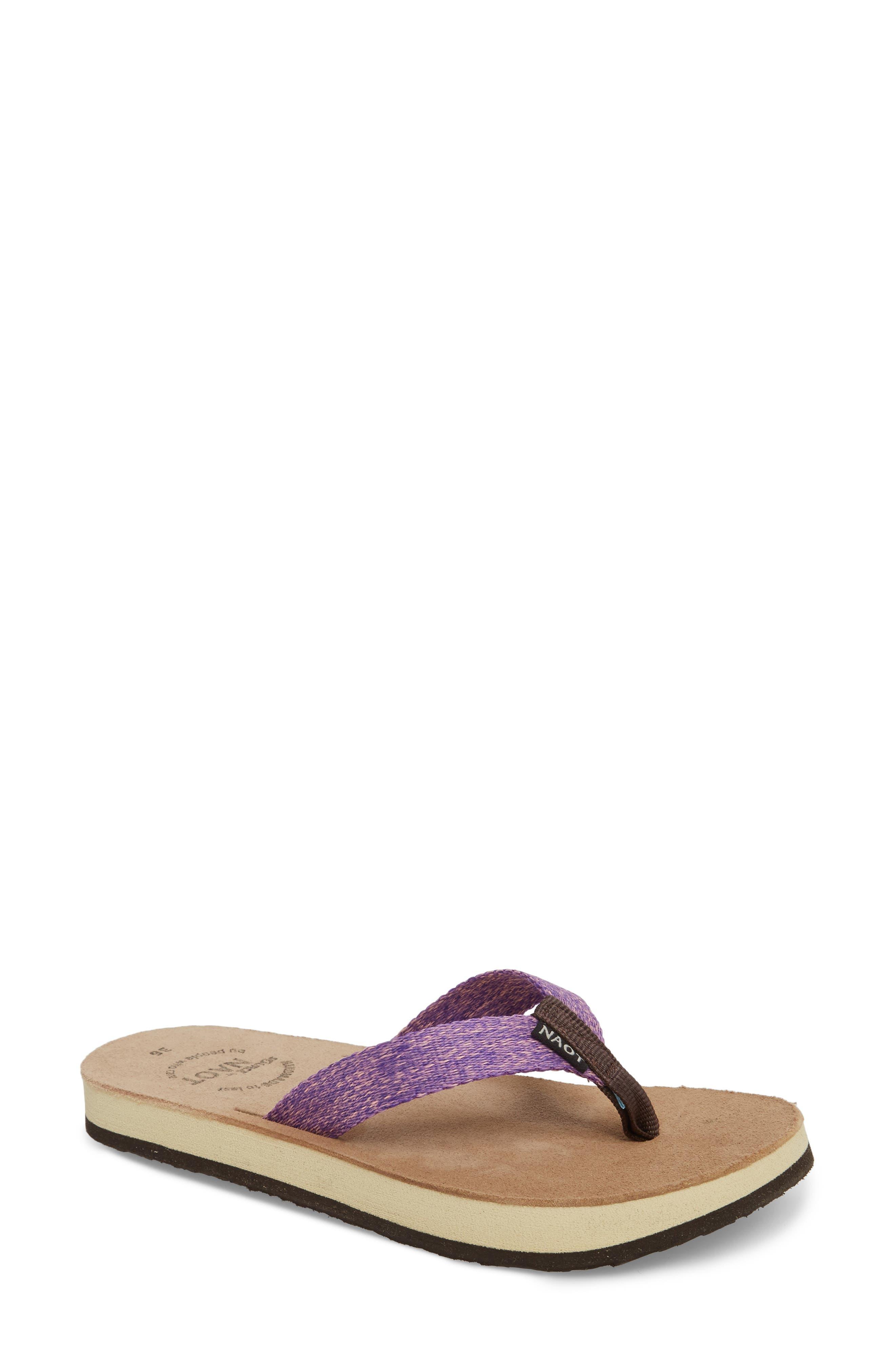 Island Flip Flop,                             Main thumbnail 1, color,                             Purple Lilac Fabric