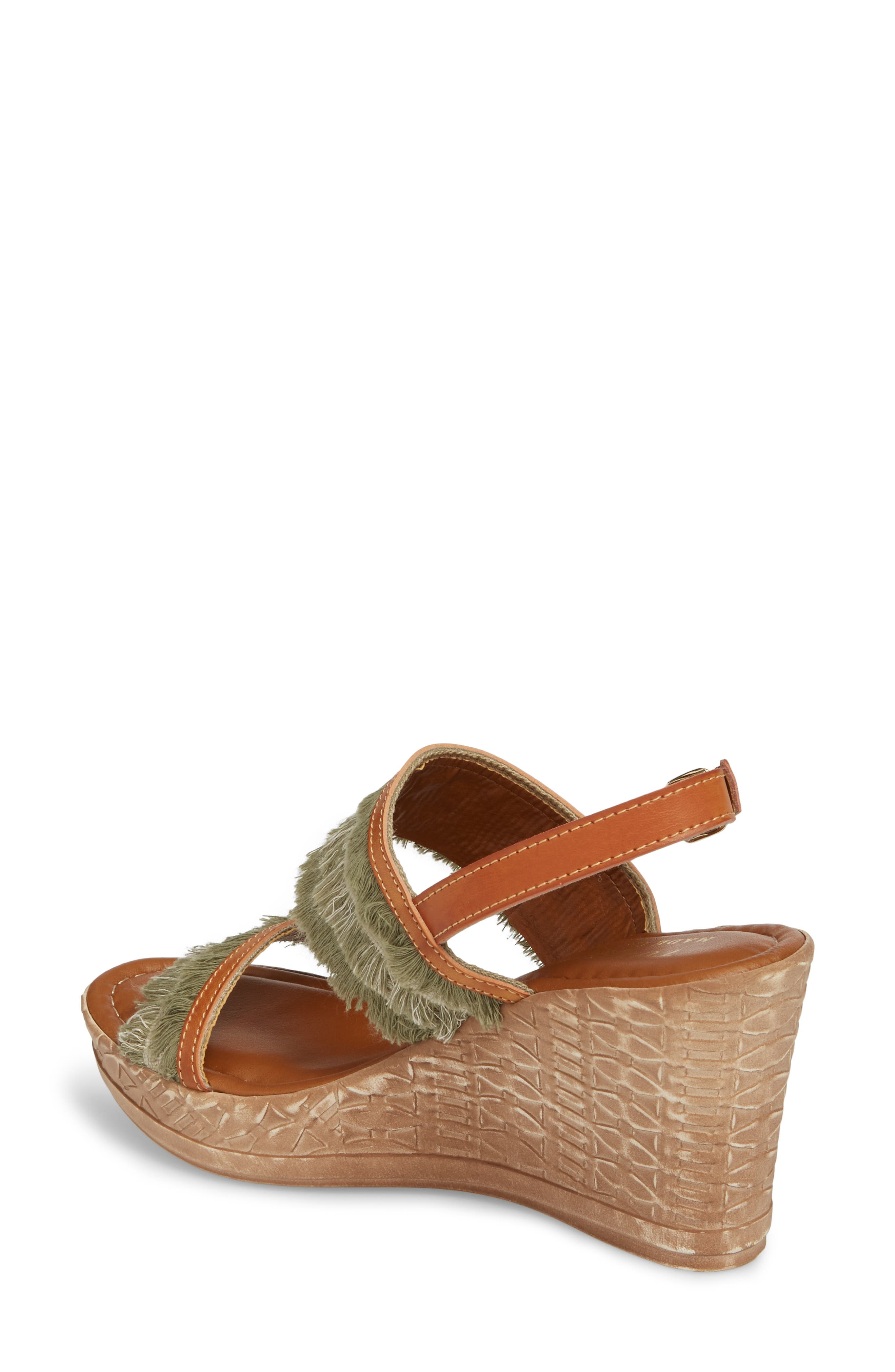 by Easy Street<sup>®</sup> Zaira Wedge Espadrille Sandal,                             Alternate thumbnail 2, color,                             Khaki Faux Leather