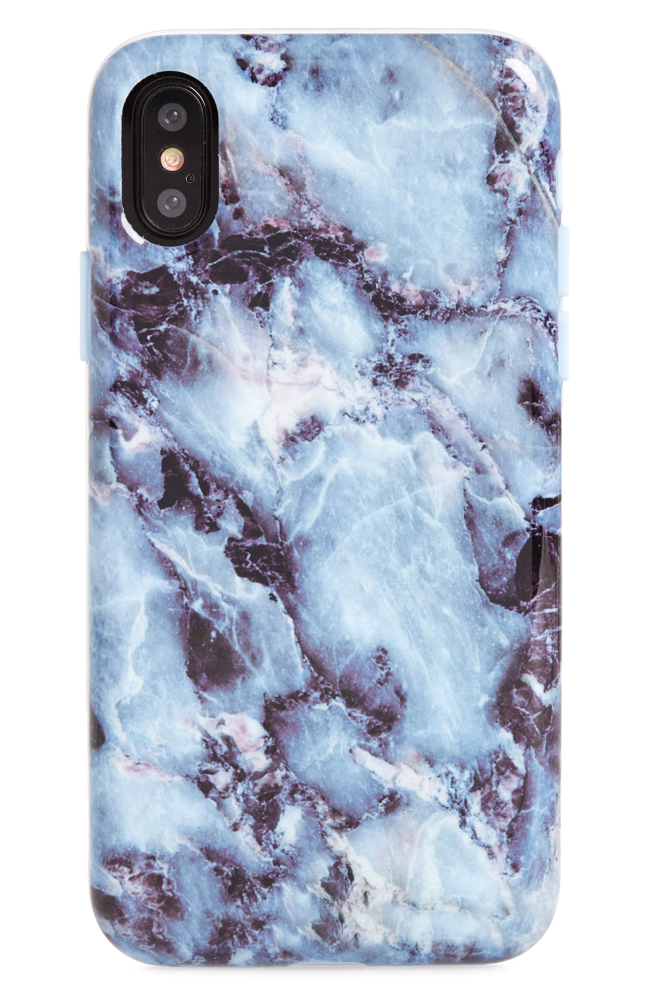 Blue Marble iPhone X Case,                         Main,                         color, Blue Multi