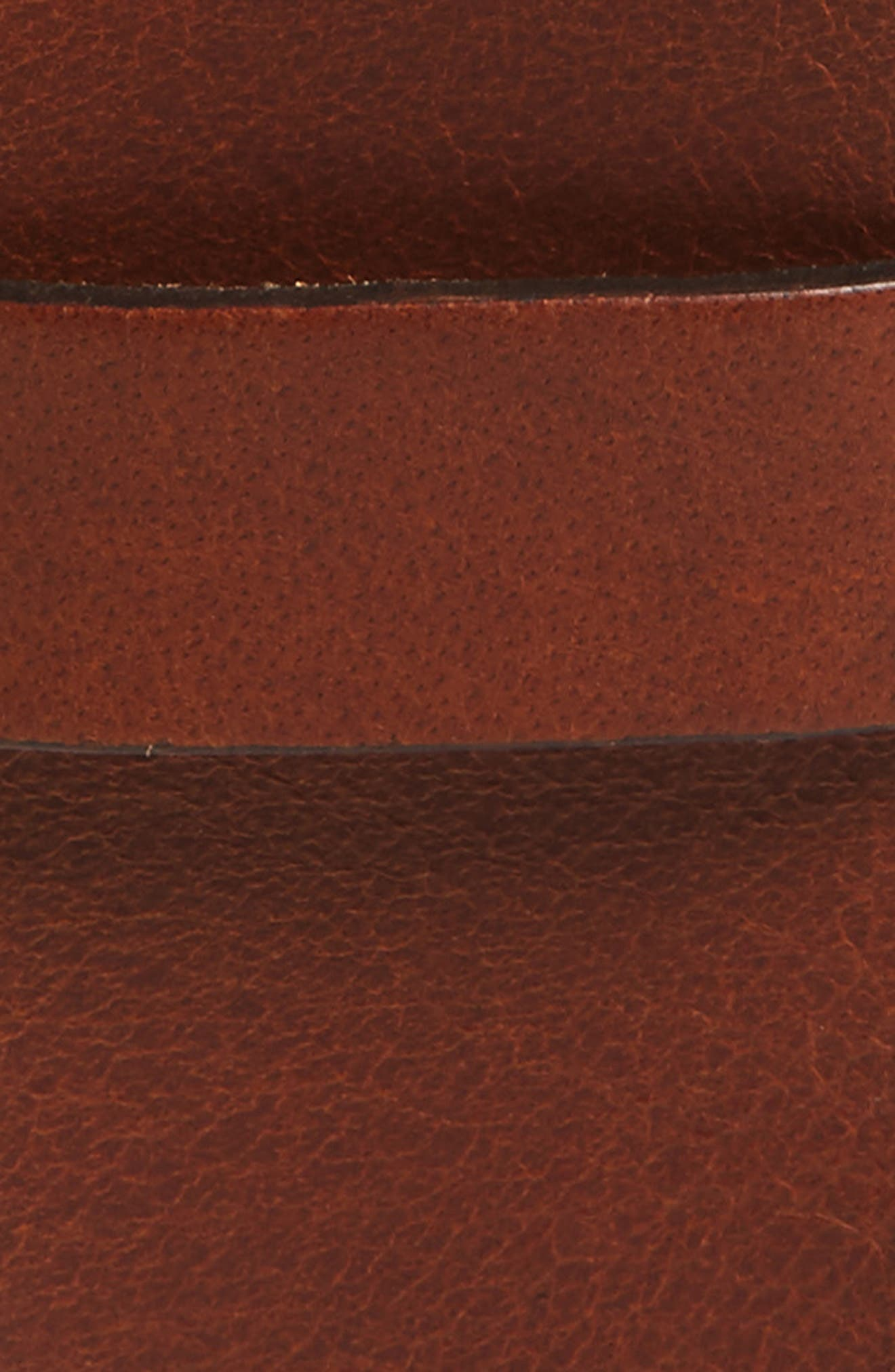 Roller Buckle Leather Belt,                             Alternate thumbnail 2, color,                             Cognac