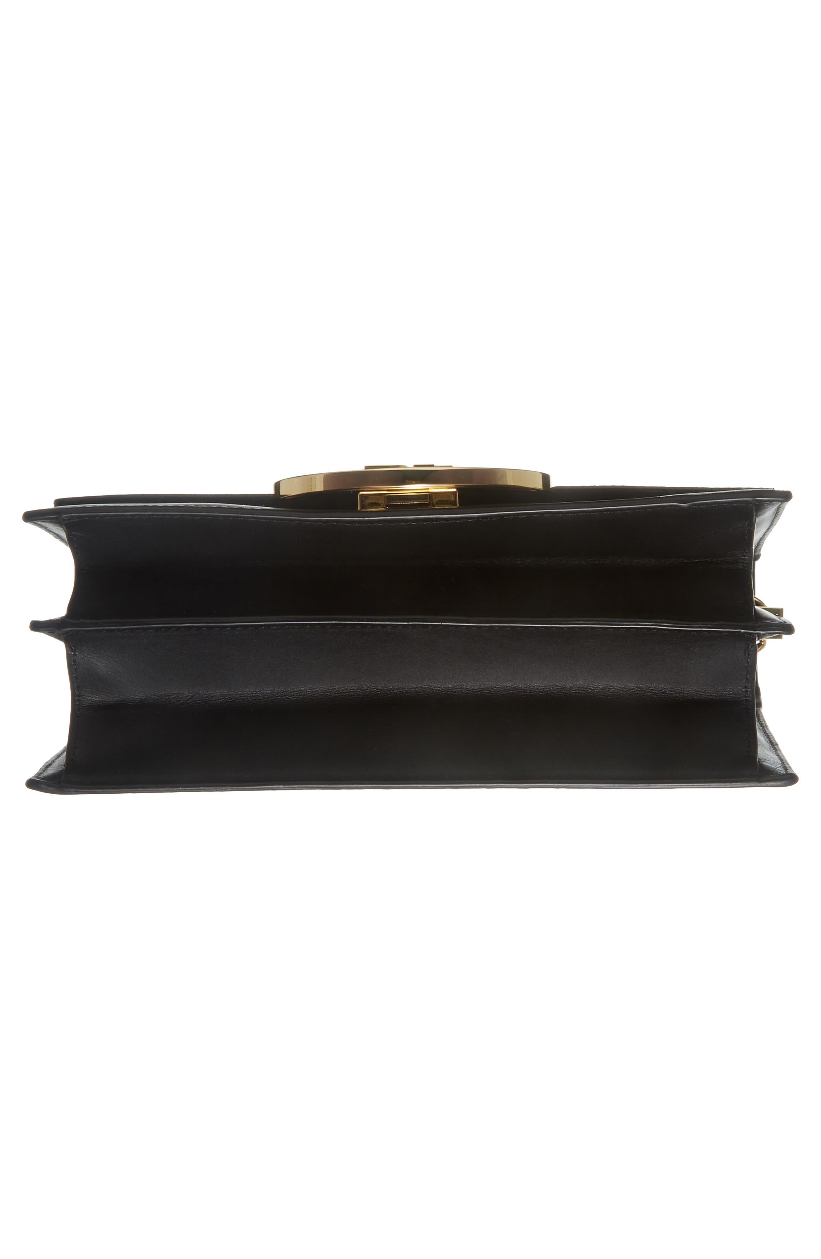 Bonne Journée Half Moon Leather Crossbody Bag,                             Alternate thumbnail 6, color,                             Harlow Black