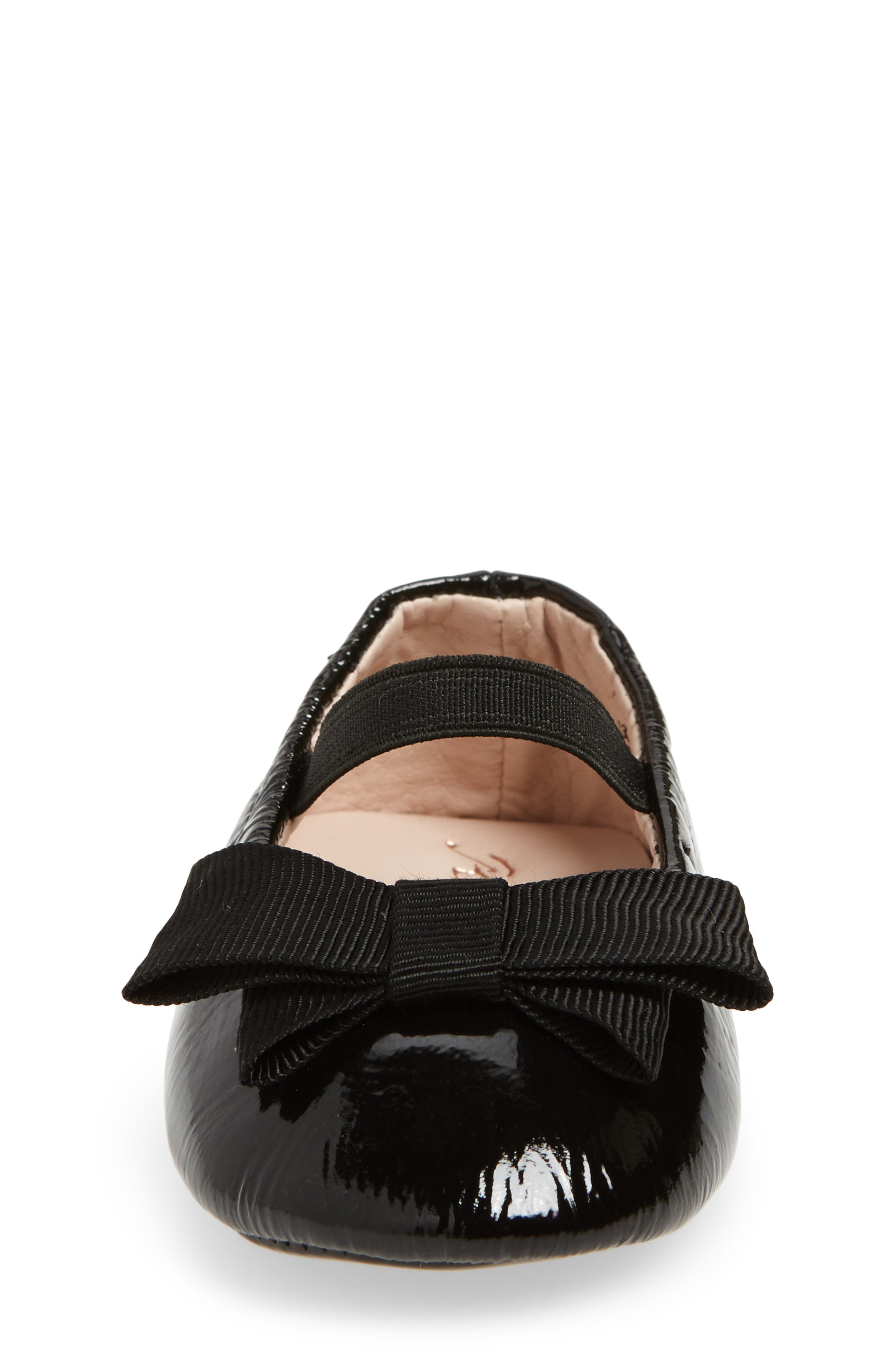 Lilia Mary Jane Flat,                             Alternate thumbnail 4, color,                             Black Patent Leather
