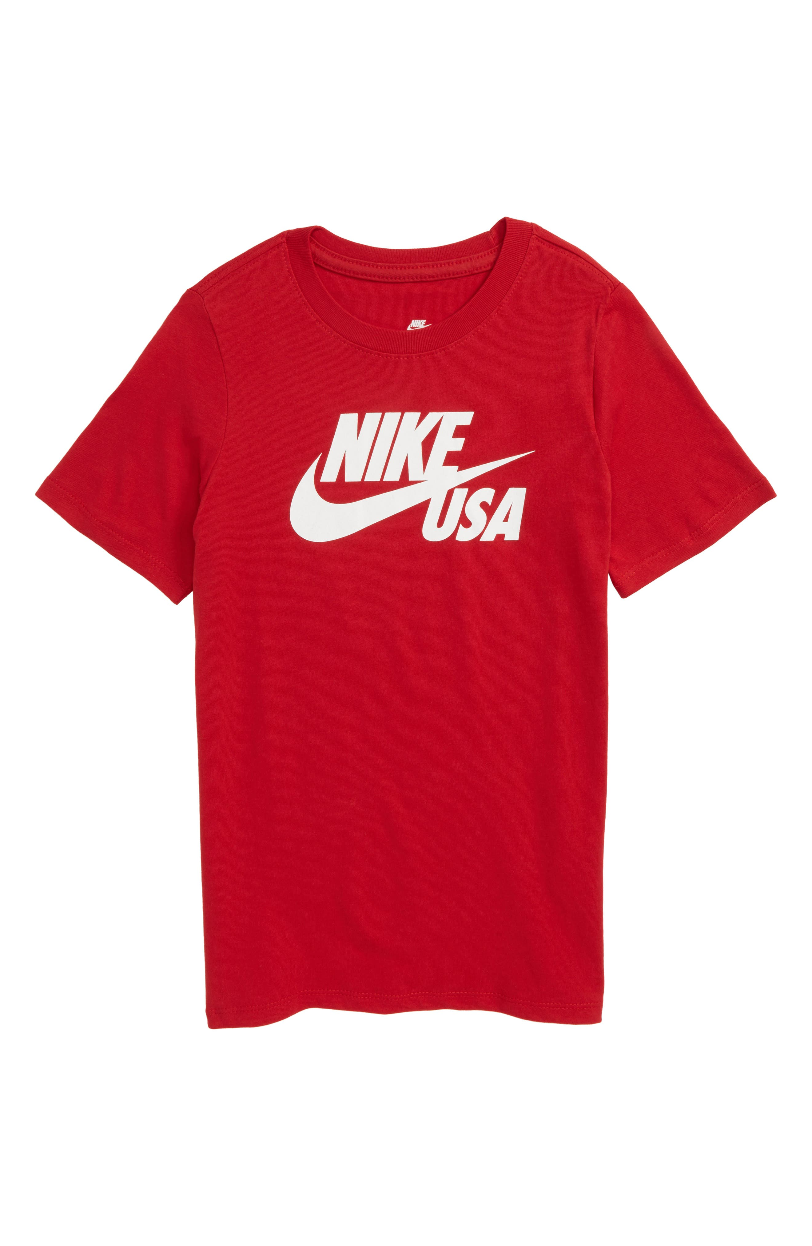 Sportswear USA Country Graphic T-Shirt,                             Main thumbnail 1, color,                             Gym Red