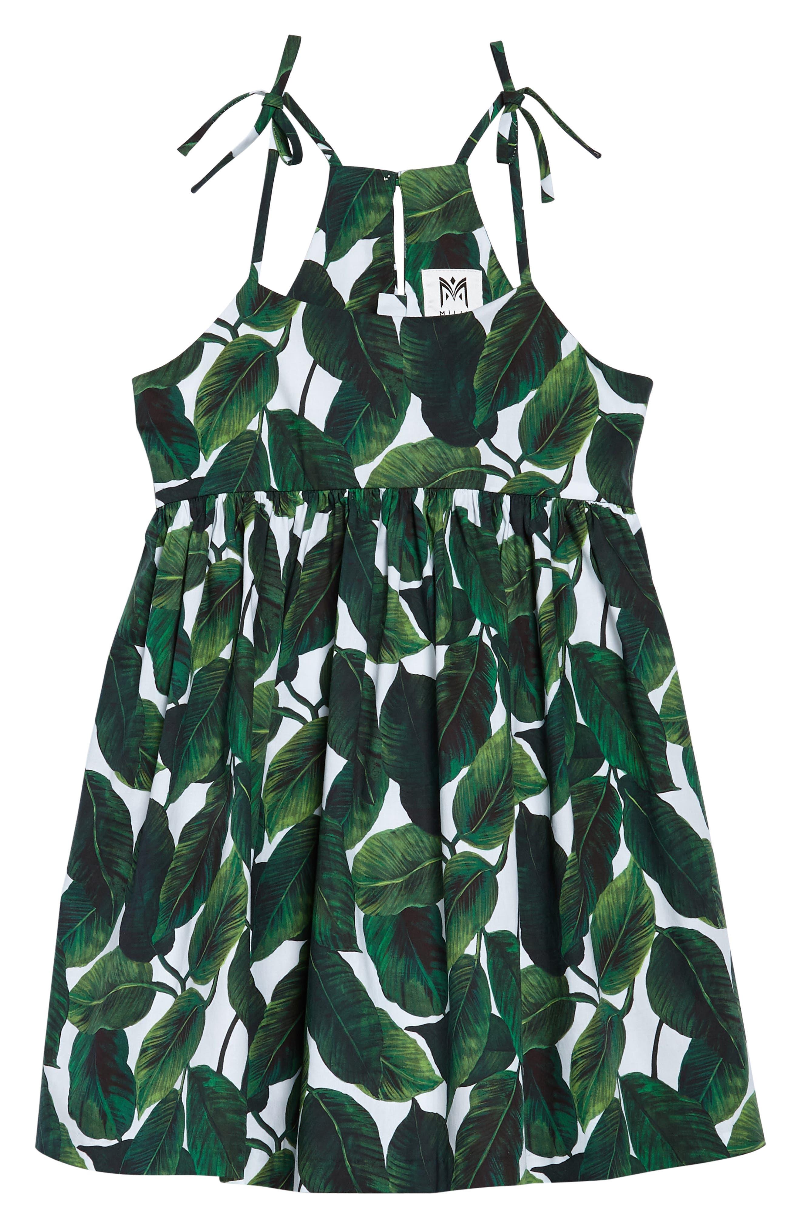 Print Dress,                         Main,                         color, Emerald