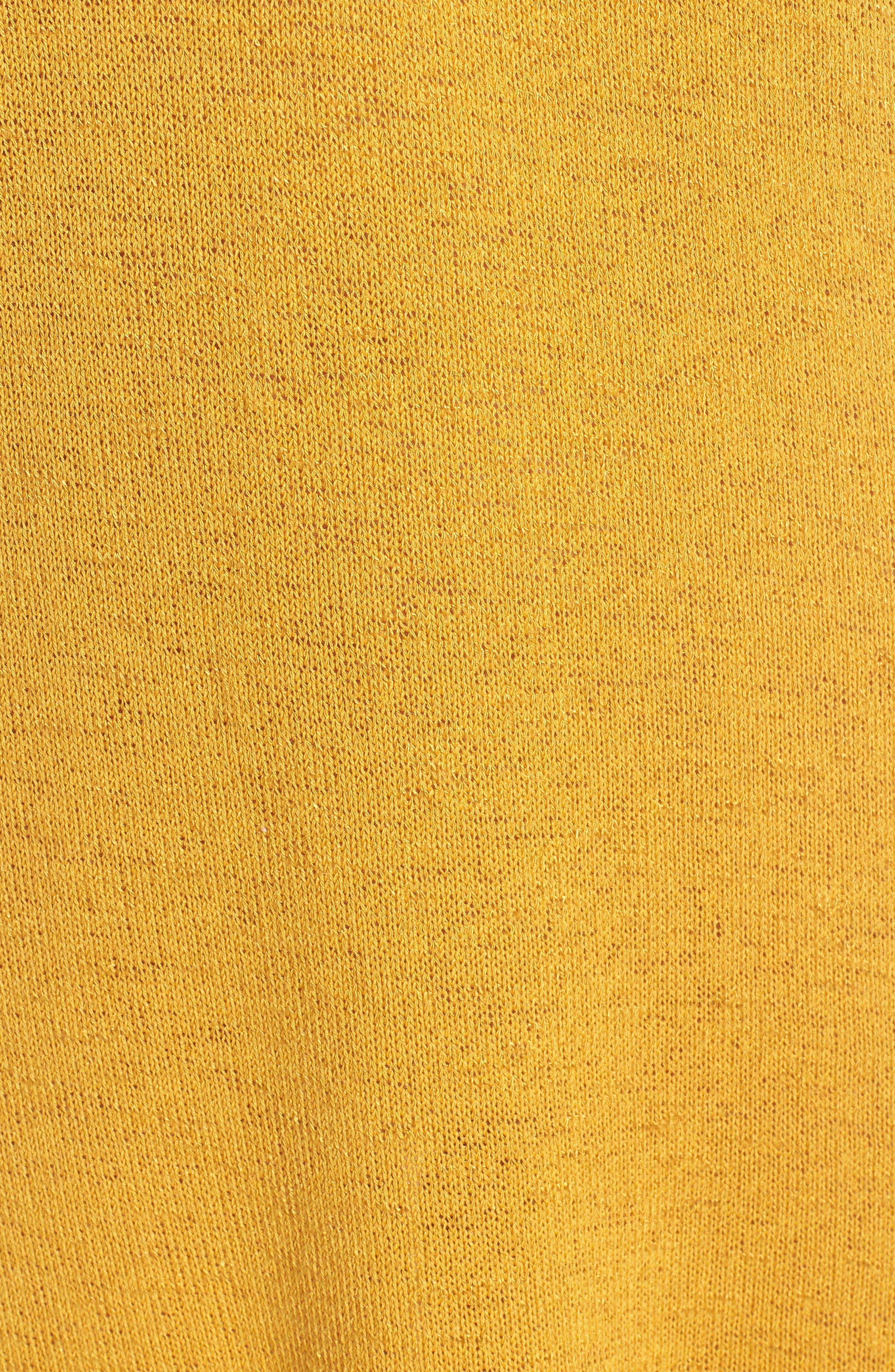 Heat Rising Lace-Up Dress,                             Alternate thumbnail 6, color,                             Saffron