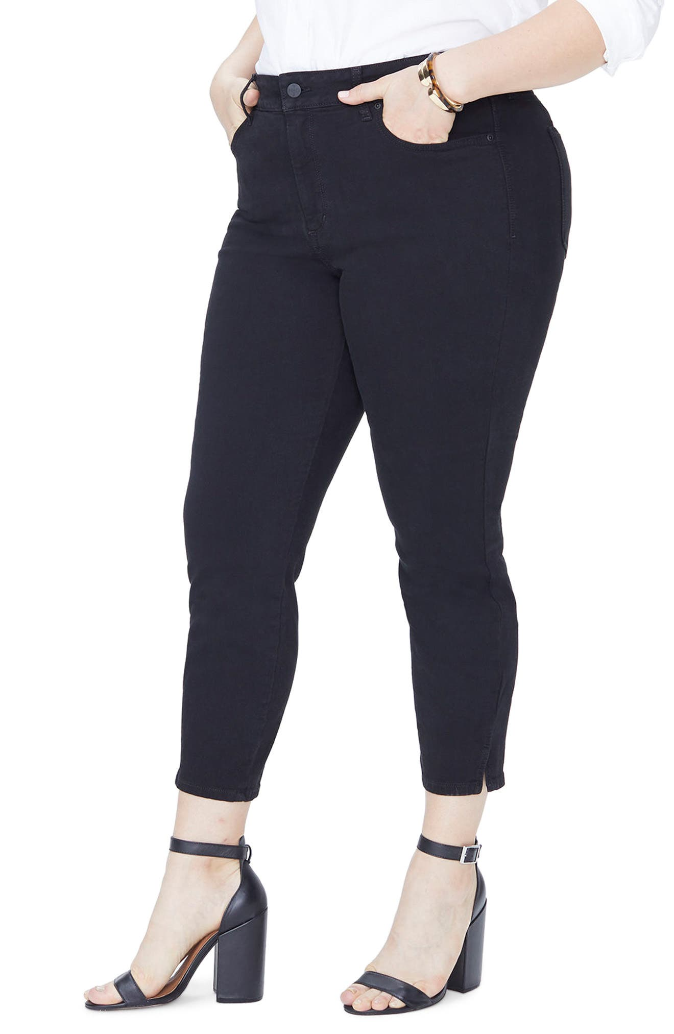Ami Ankle Skinny Jeans,                             Main thumbnail 1, color,                             Black