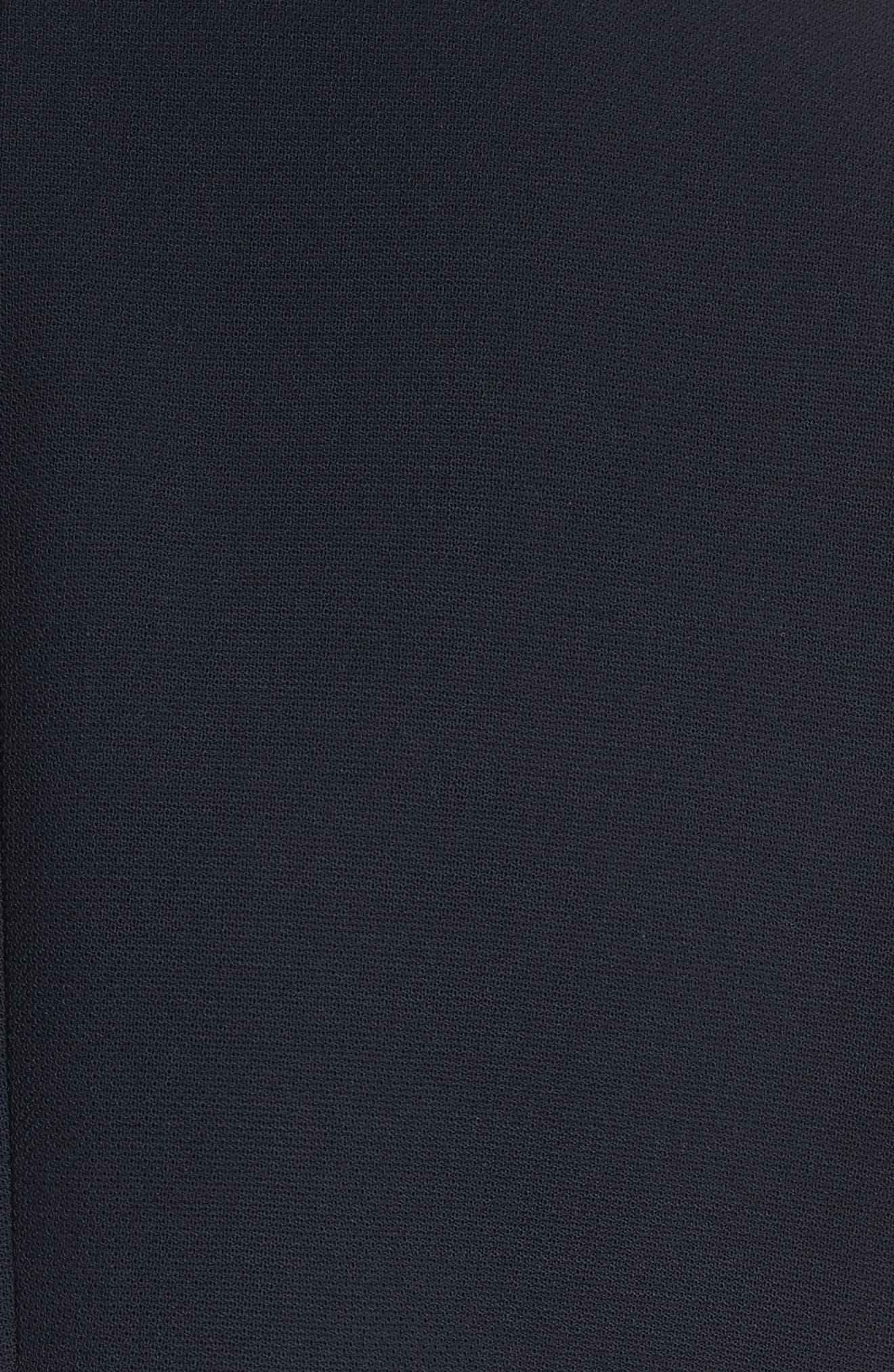 Pop Collar Stretch Wool Crepe Blazer,                             Alternate thumbnail 5, color,                             Navy