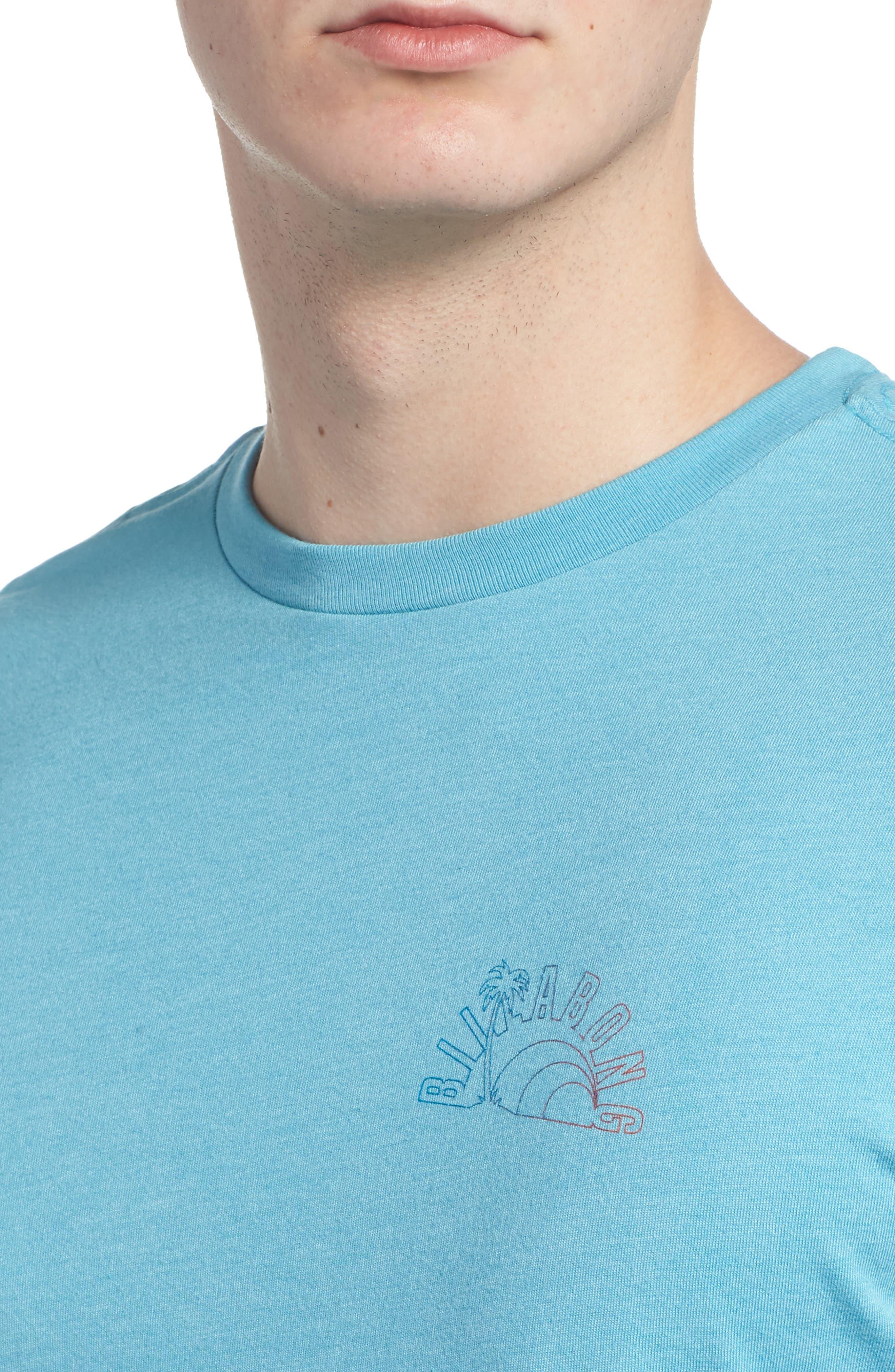 Rainbow Graphic T-Shirt,                             Alternate thumbnail 4, color,                             Aqua Heather
