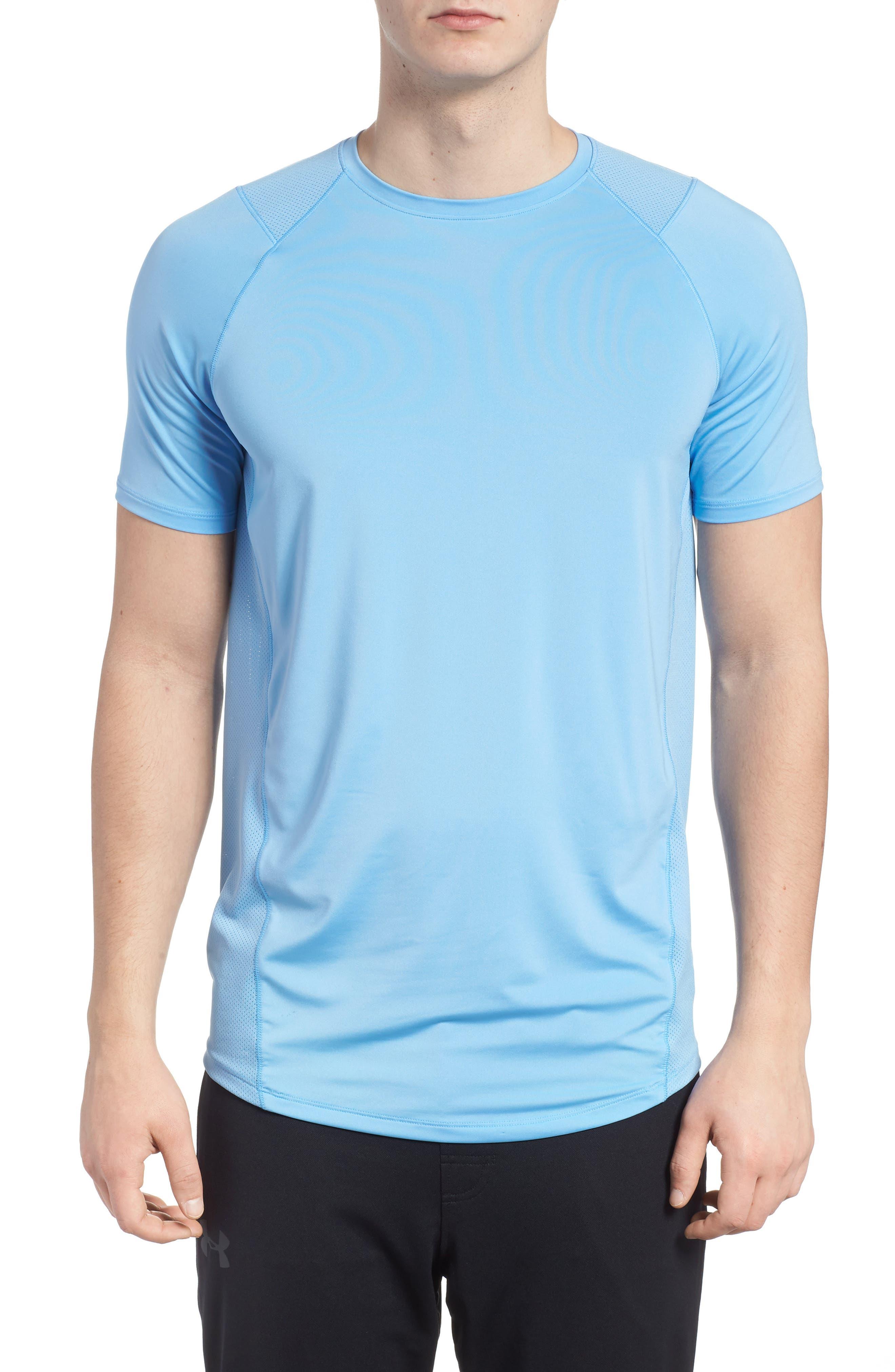 Raid 2.0 Crewneck T-Shirt,                         Main,                         color, Carolina Blue/ Steel