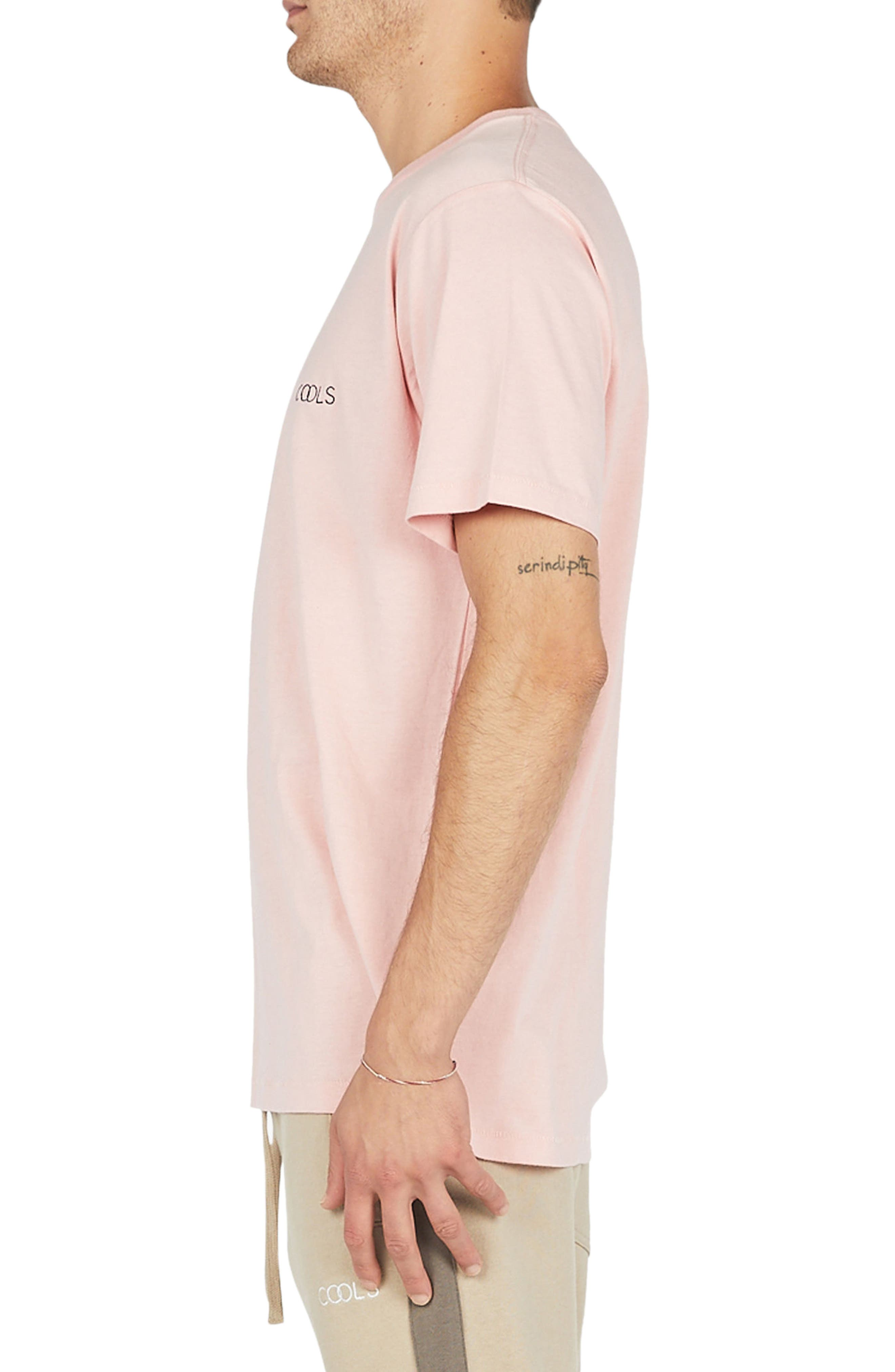 Embroidered Logo T-Shirt,                             Alternate thumbnail 3, color,                             Pink