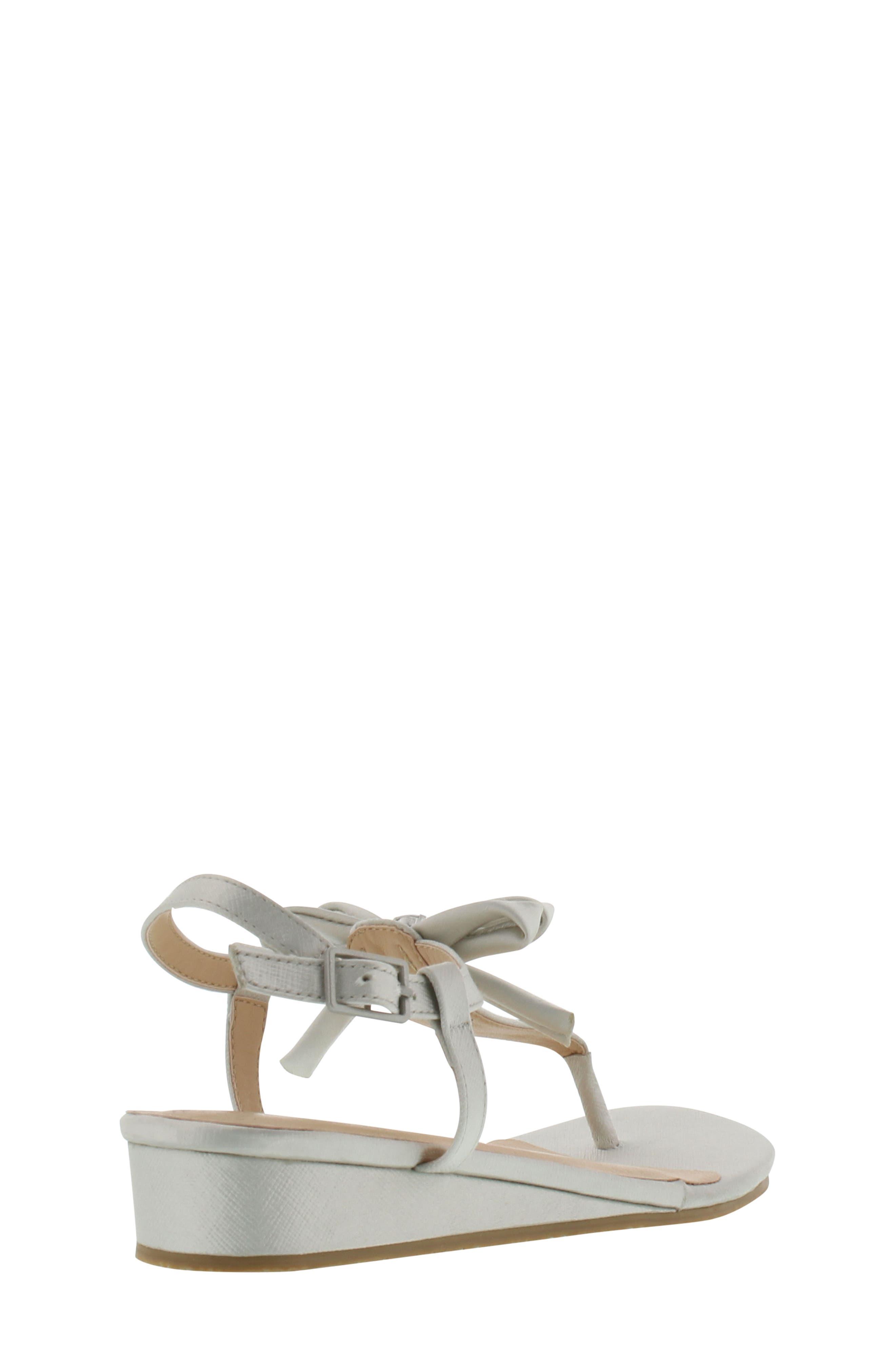 Talia Embellished Bow Sandal,                             Alternate thumbnail 2, color,                             Silver