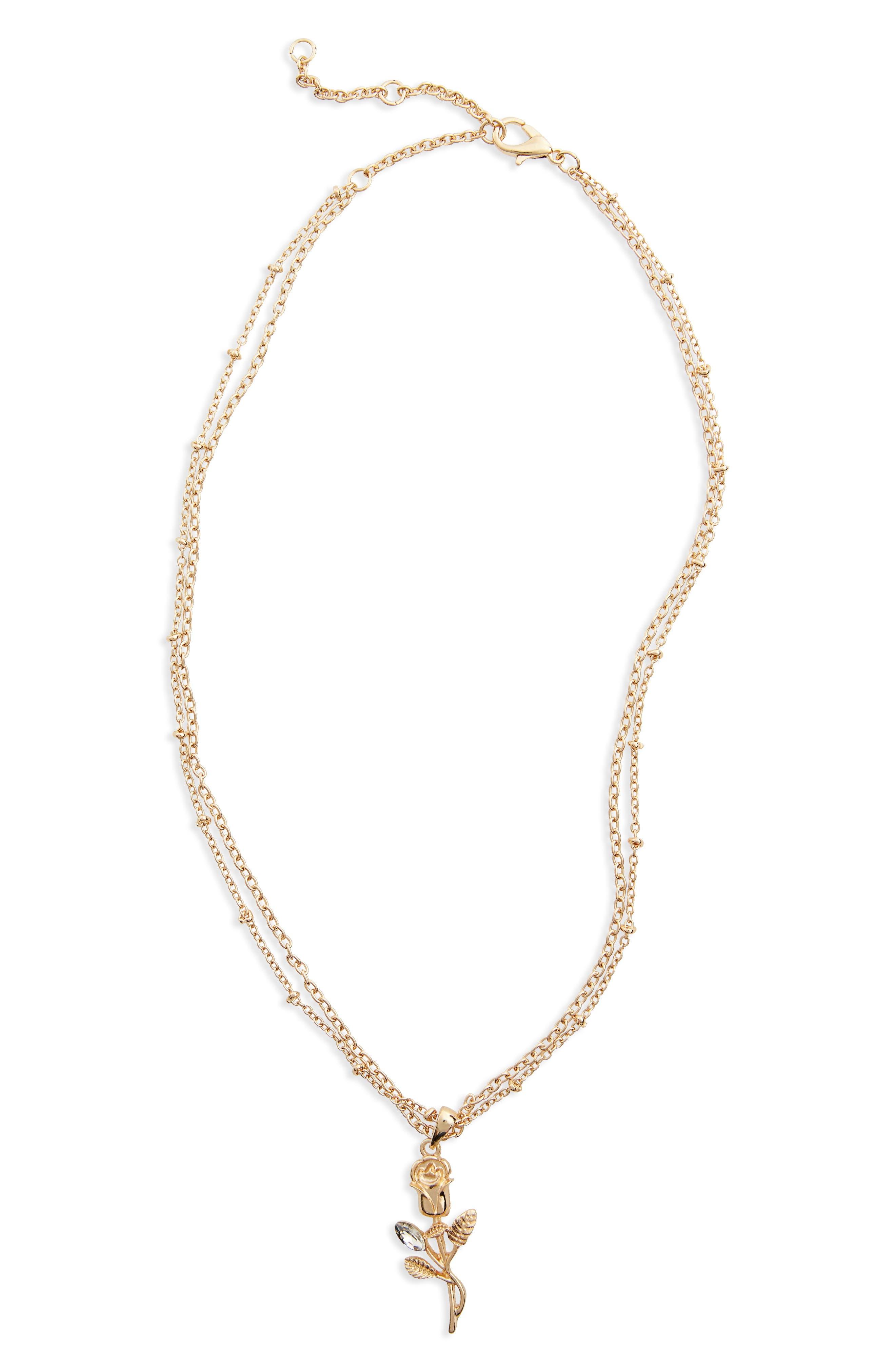 BP. Delicate Rose Pendant Necklace