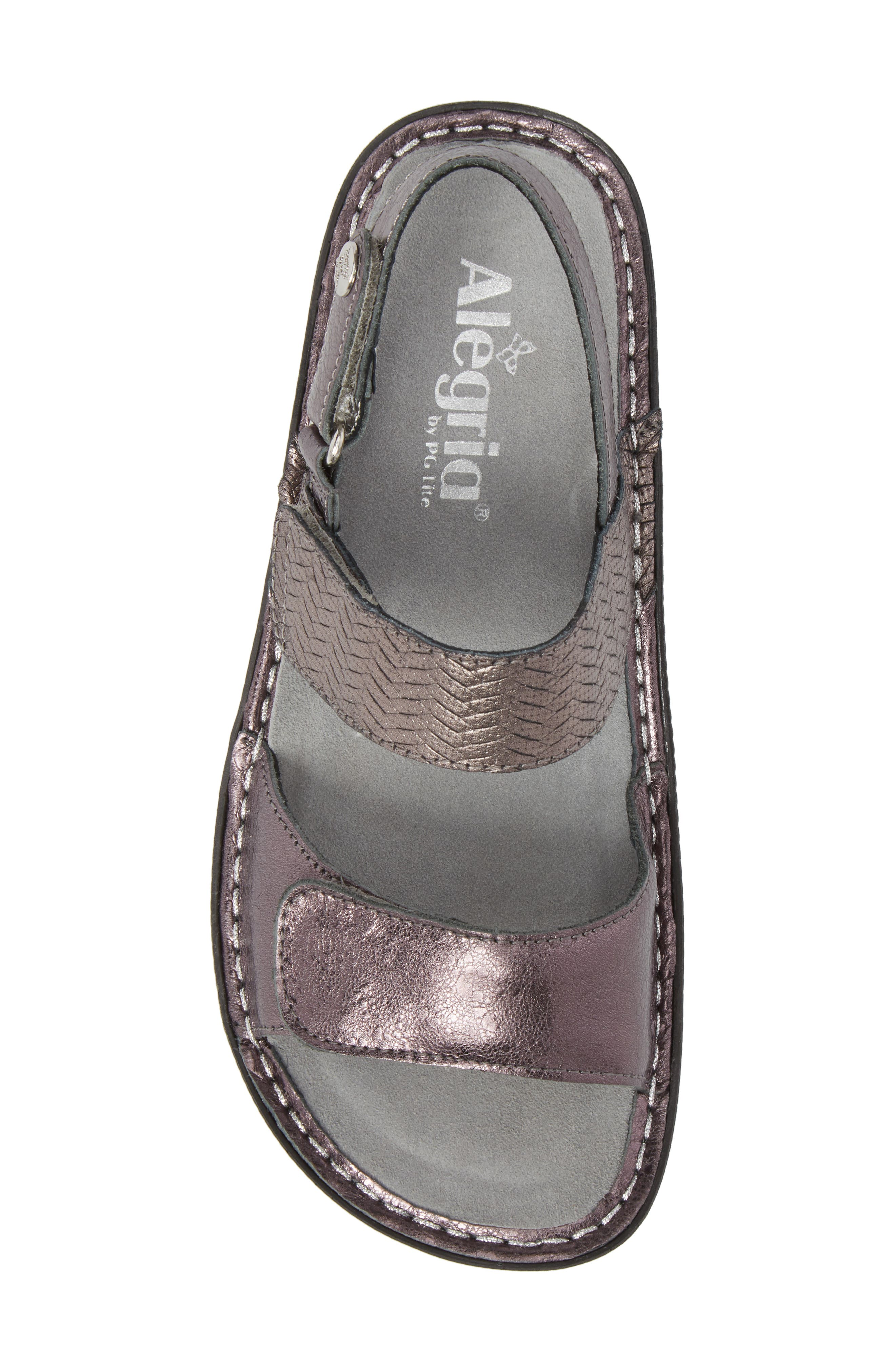 'Verona' Sandal,                             Alternate thumbnail 5, color,                             Braided Pewter Leather