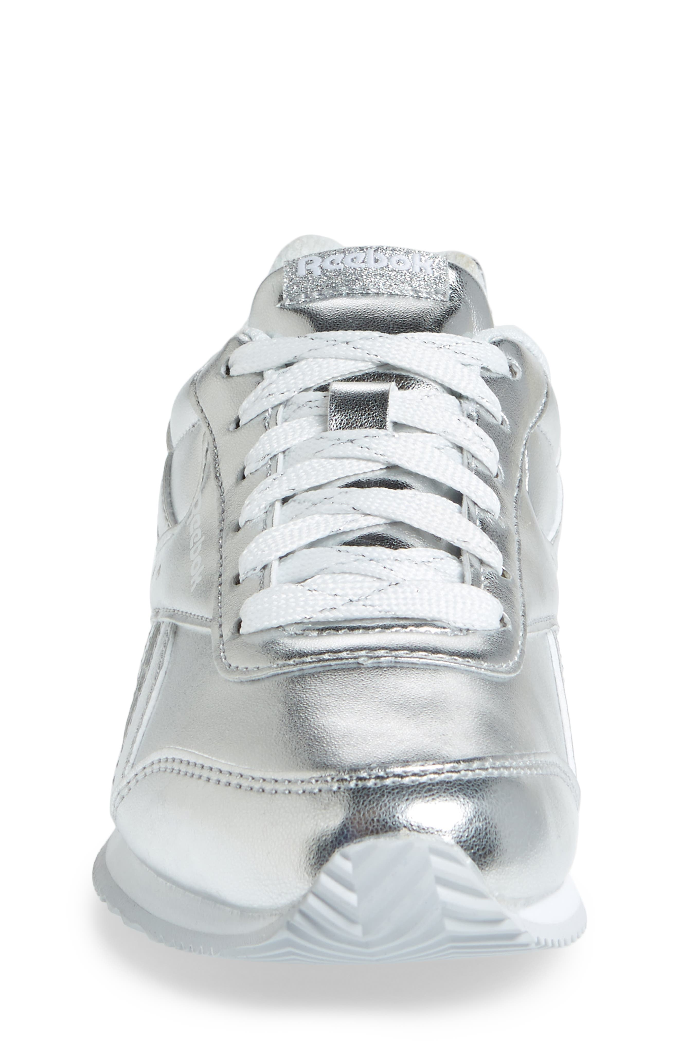 Royal Classic Jogger 2.0 Sneaker,                             Alternate thumbnail 4, color,                             Silver Metallic/ White
