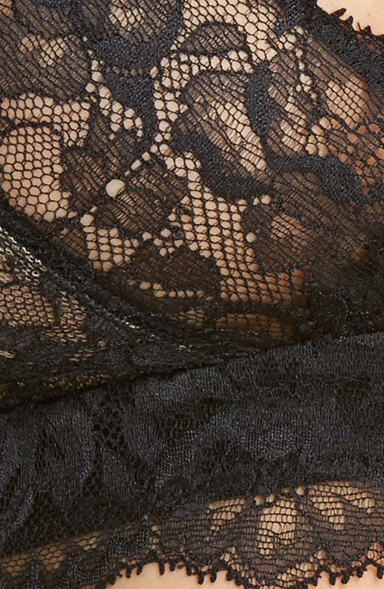 Devotion Convertible Bralette,                             Alternate thumbnail 10, color,                             Black/ Coal