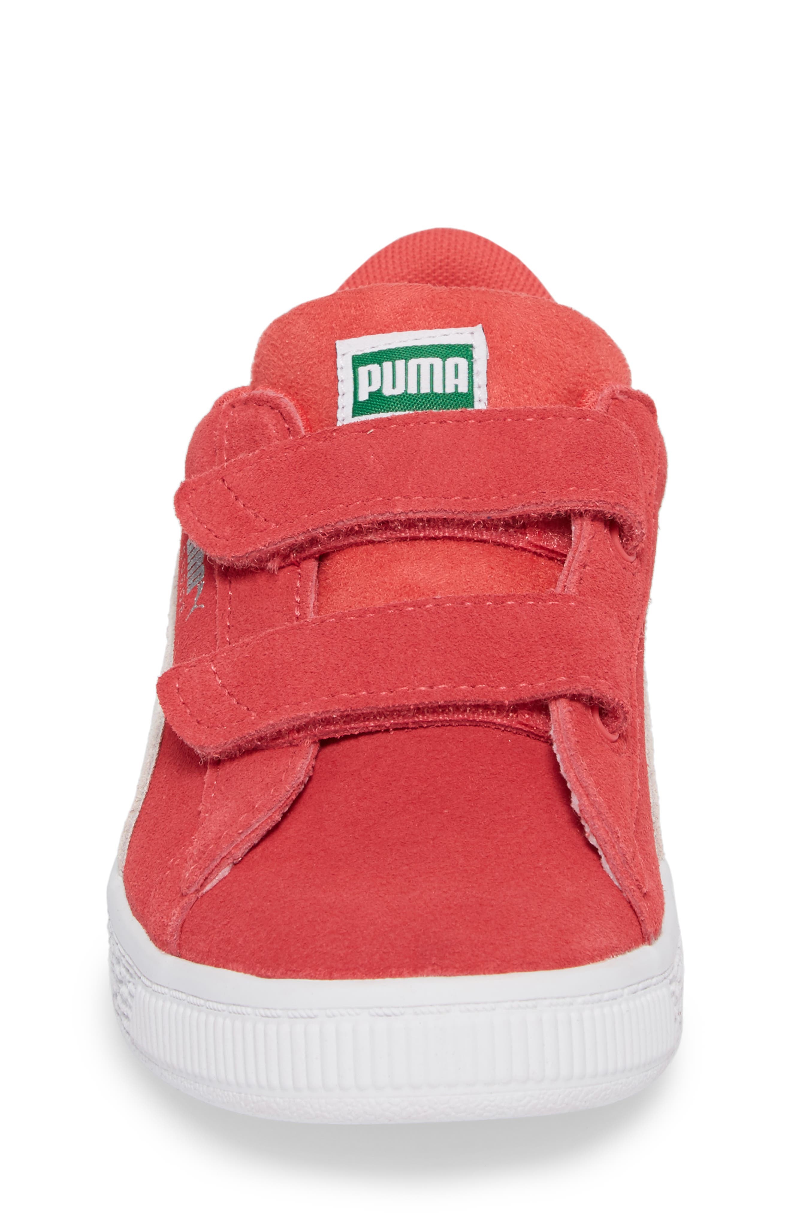 Suede Classic Sneaker,                             Alternate thumbnail 4, color,                             Paradise Pink/ Puma White
