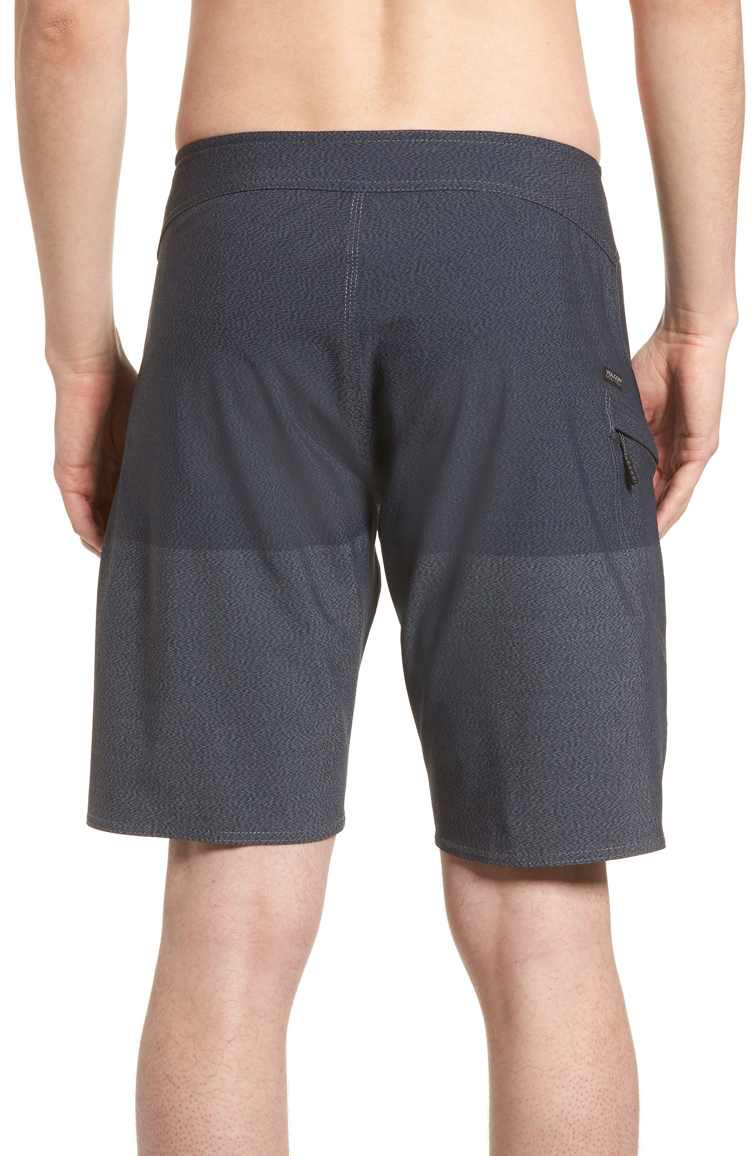 Lido Heather Board Shorts,                             Alternate thumbnail 2, color,                             Blue Smoke
