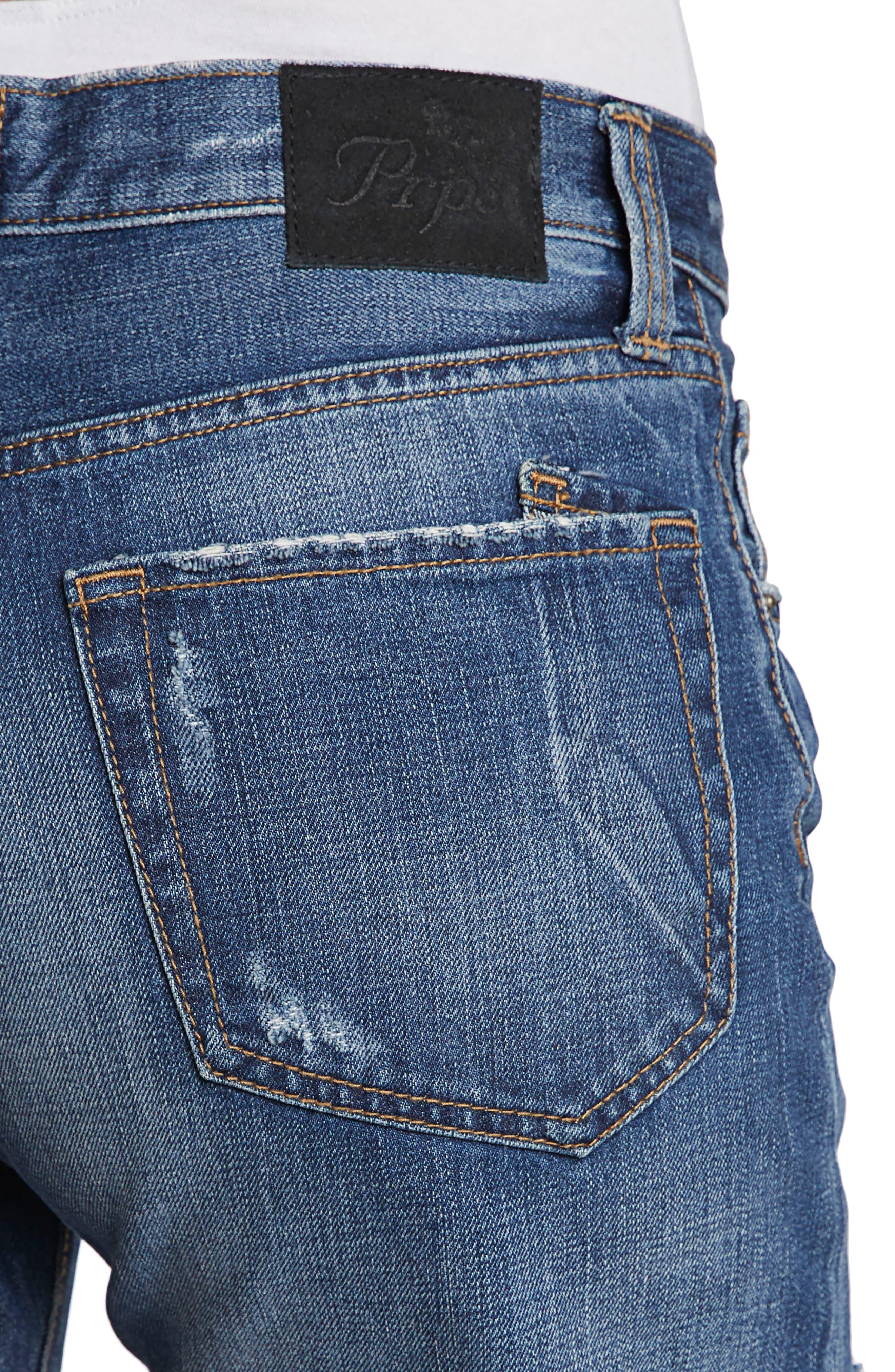 El Camino Cutoff Denim Boyfriend Shorts,                             Alternate thumbnail 4, color,                             Medium Wash