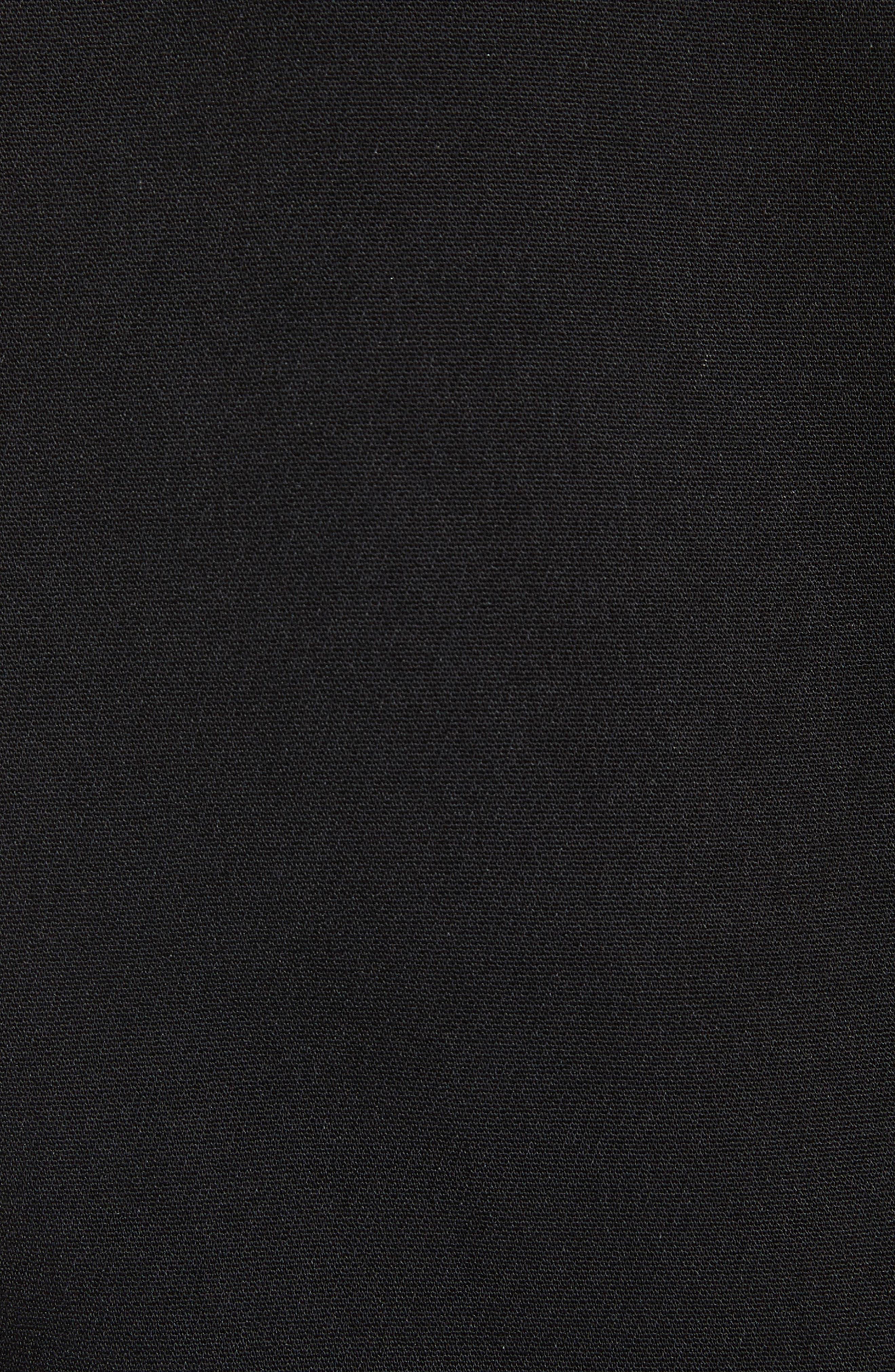 Artiro Asymmetrical Shift Dress,                             Alternate thumbnail 5, color,                             Black