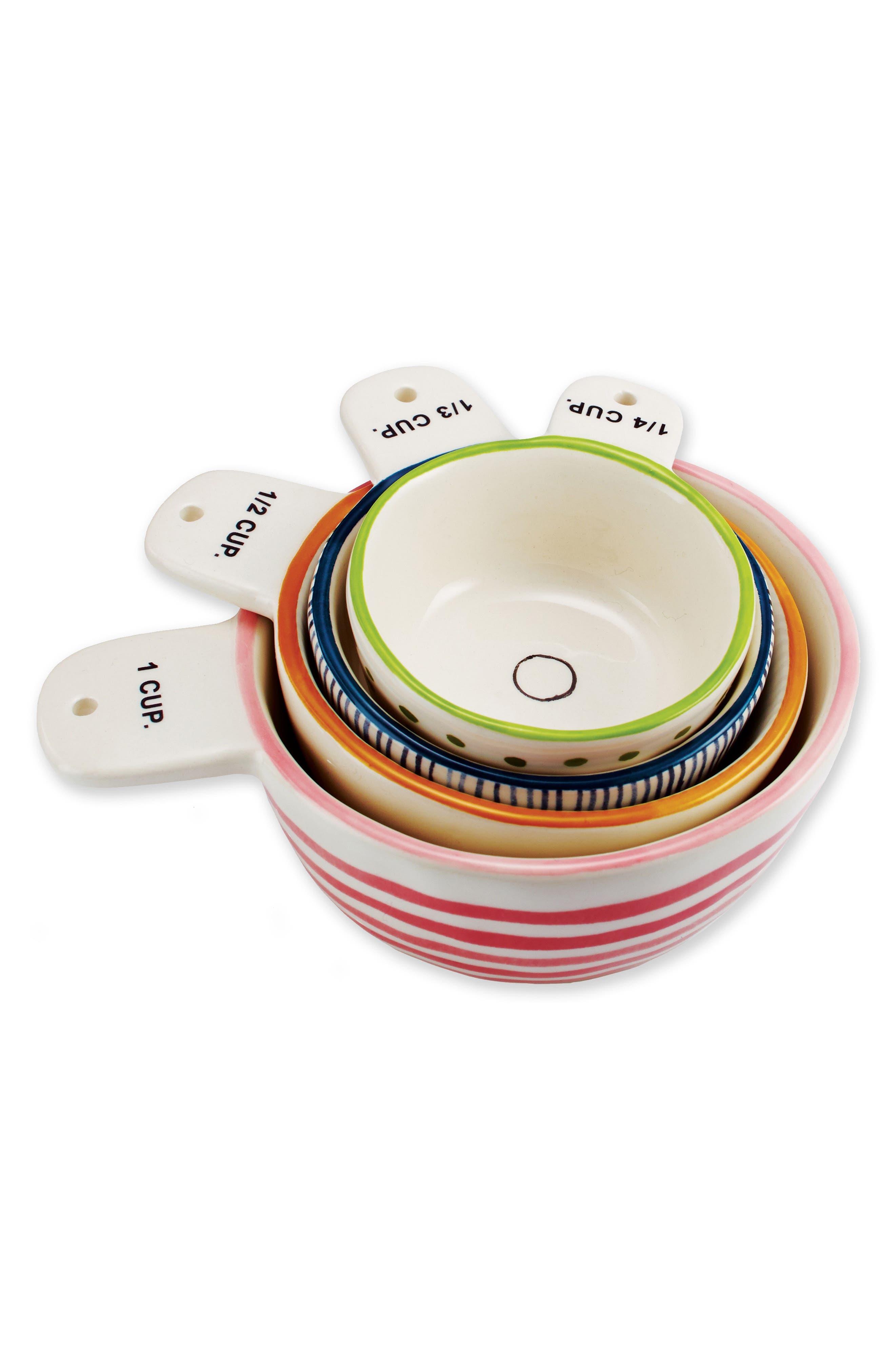 Rae Dunn Set of 4 Ceramic Measuring Cups