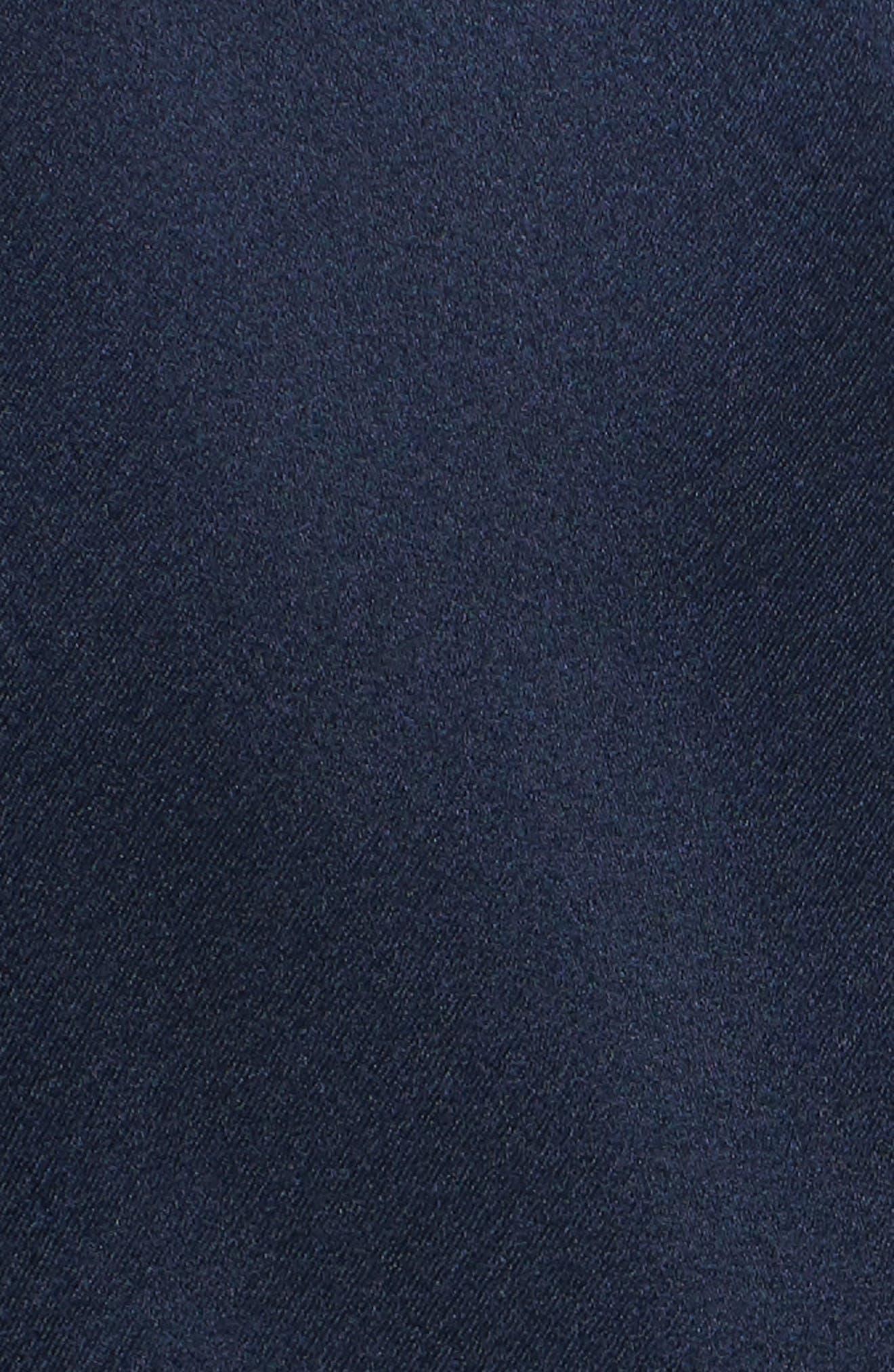 Pillar Satin Dress,                             Alternate thumbnail 5, color,                             Cobalt Blue