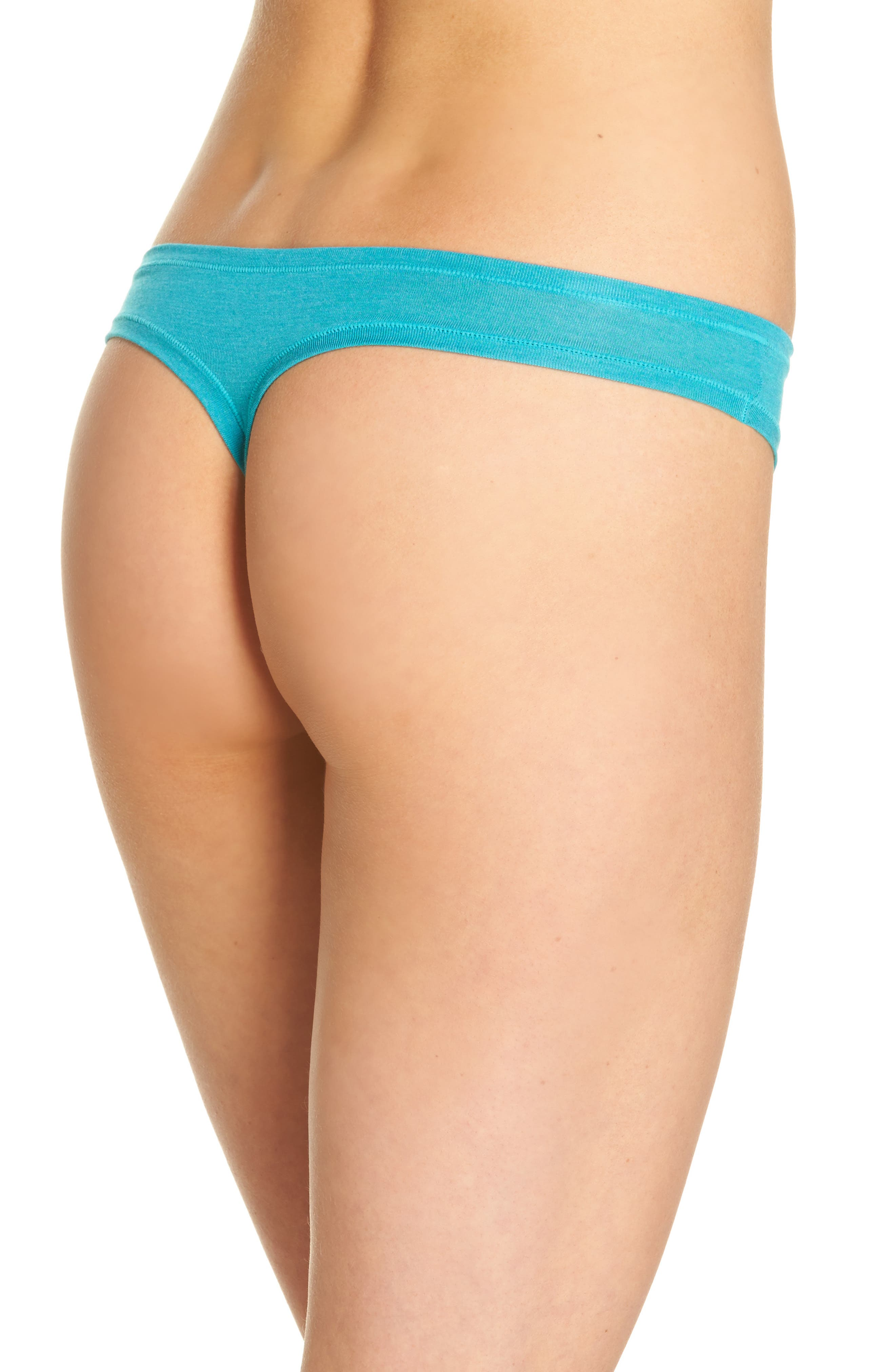 Bliss Essence Thong,                             Alternate thumbnail 2, color,                             Turquoise