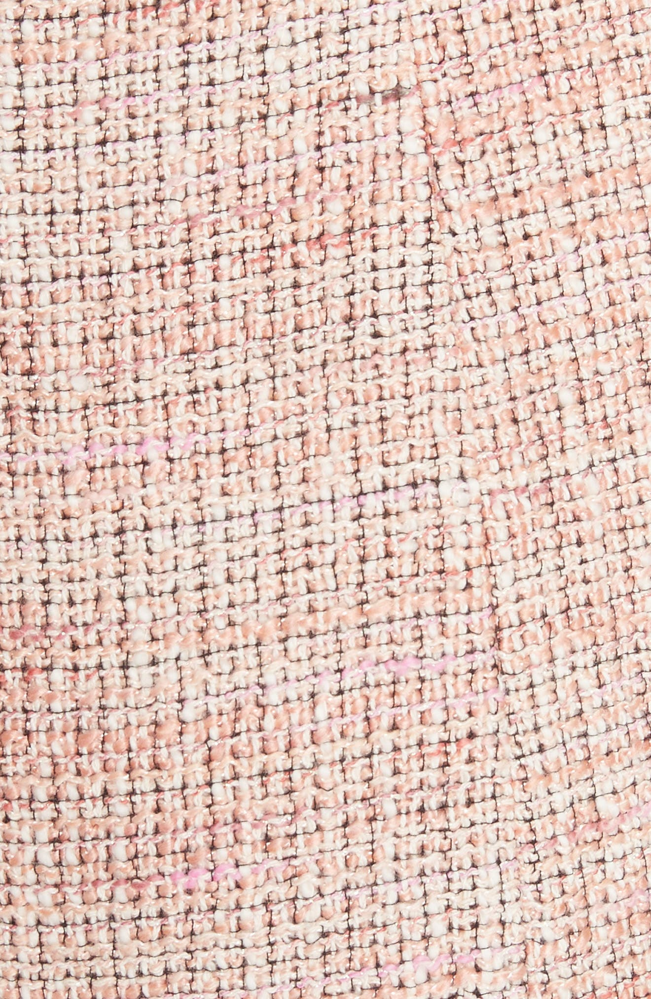 Cap Sleeve Tweed Dress,                             Alternate thumbnail 5, color,                             Rosy Nude Combo
