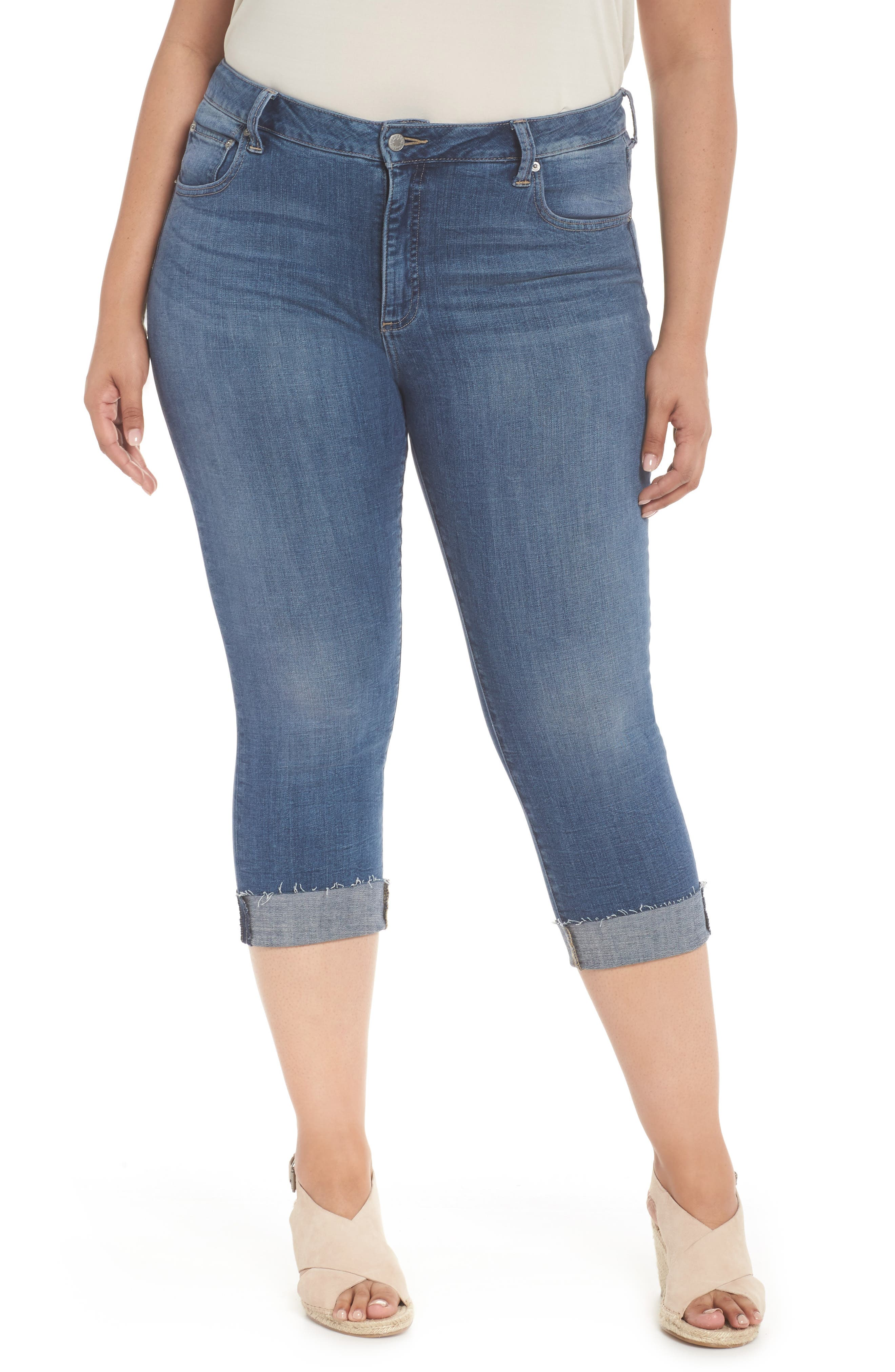 Emma Crop Skinny Jeans,                         Main,                         color, Sunbeam-P