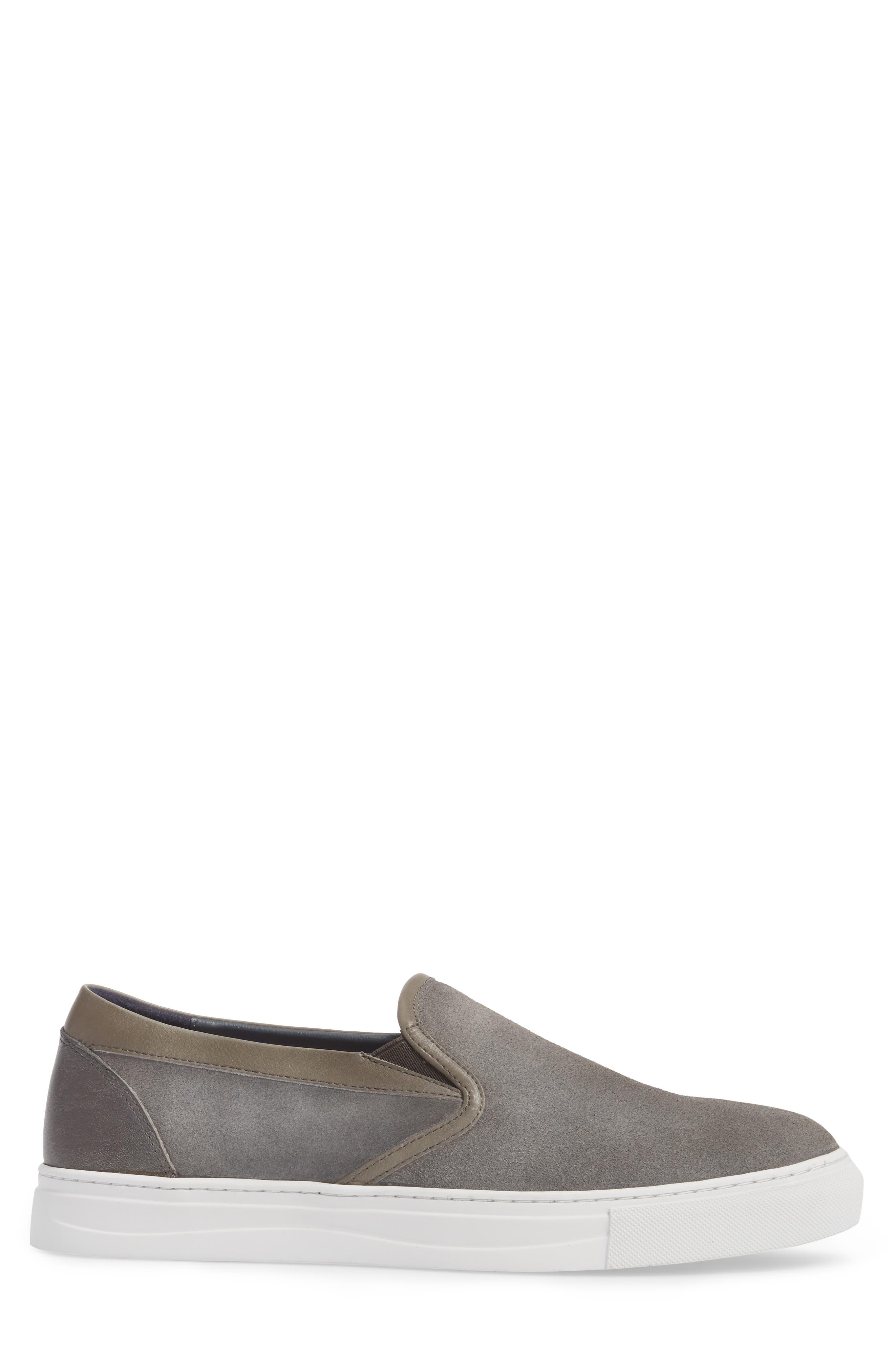 Vane Slip-On Sneaker,                             Alternate thumbnail 3, color,                             Grey Suede/ Leather