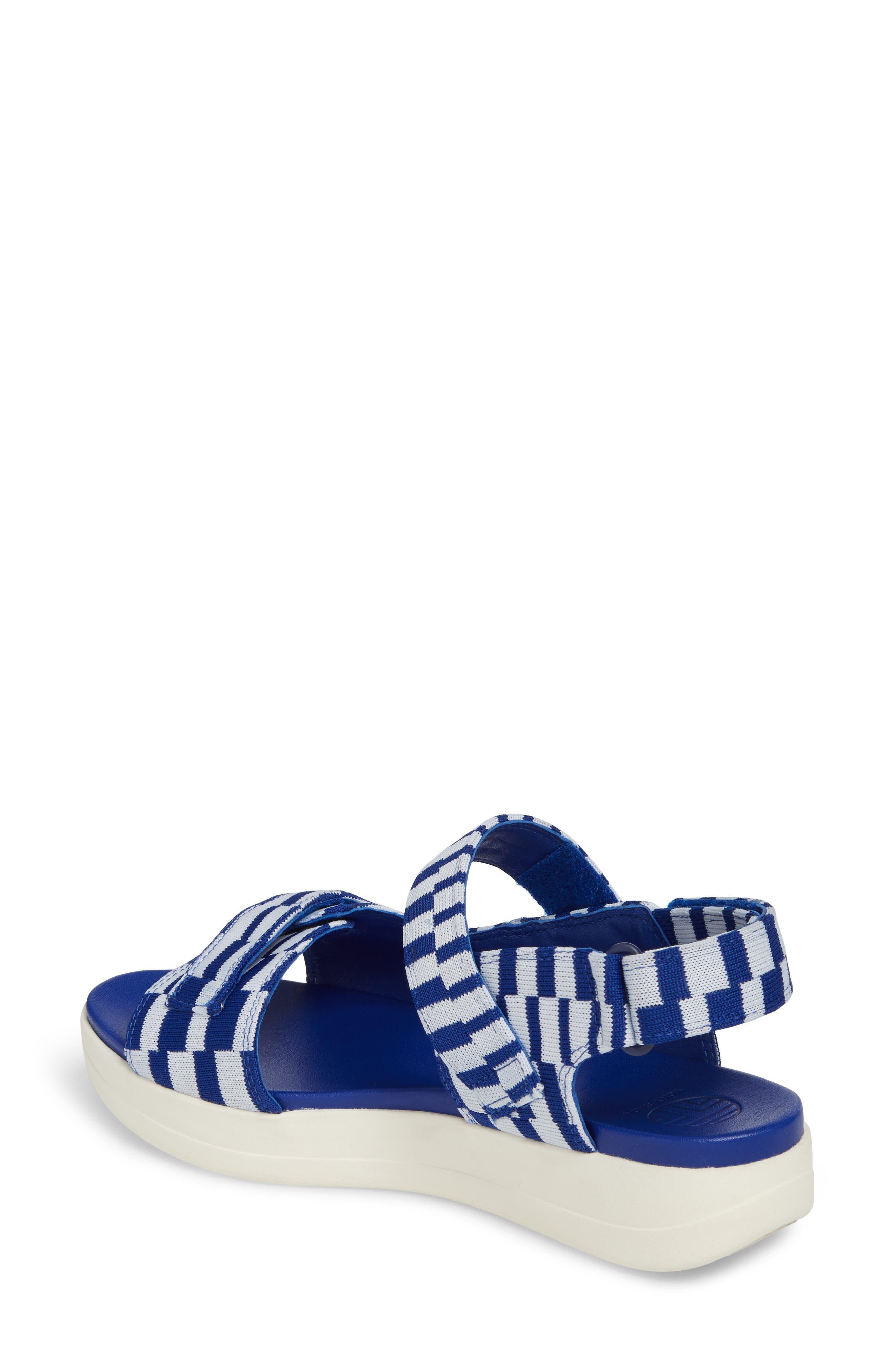 Flatform Sandal,                             Alternate thumbnail 2, color,                             Check Slalom Blue