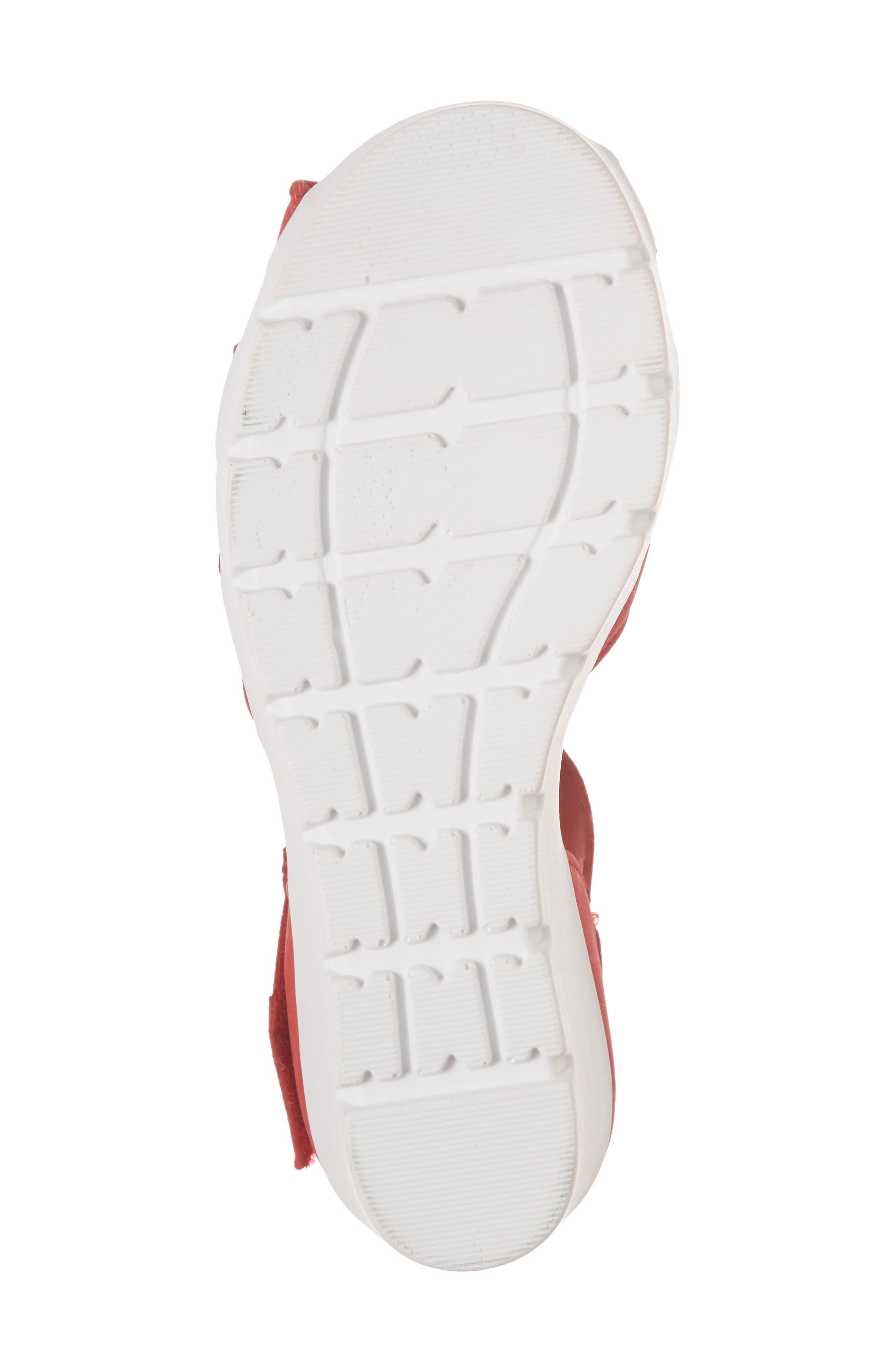Sharon Platform Wedge Sandal,                             Alternate thumbnail 6, color,                             Red Nubuck Leather