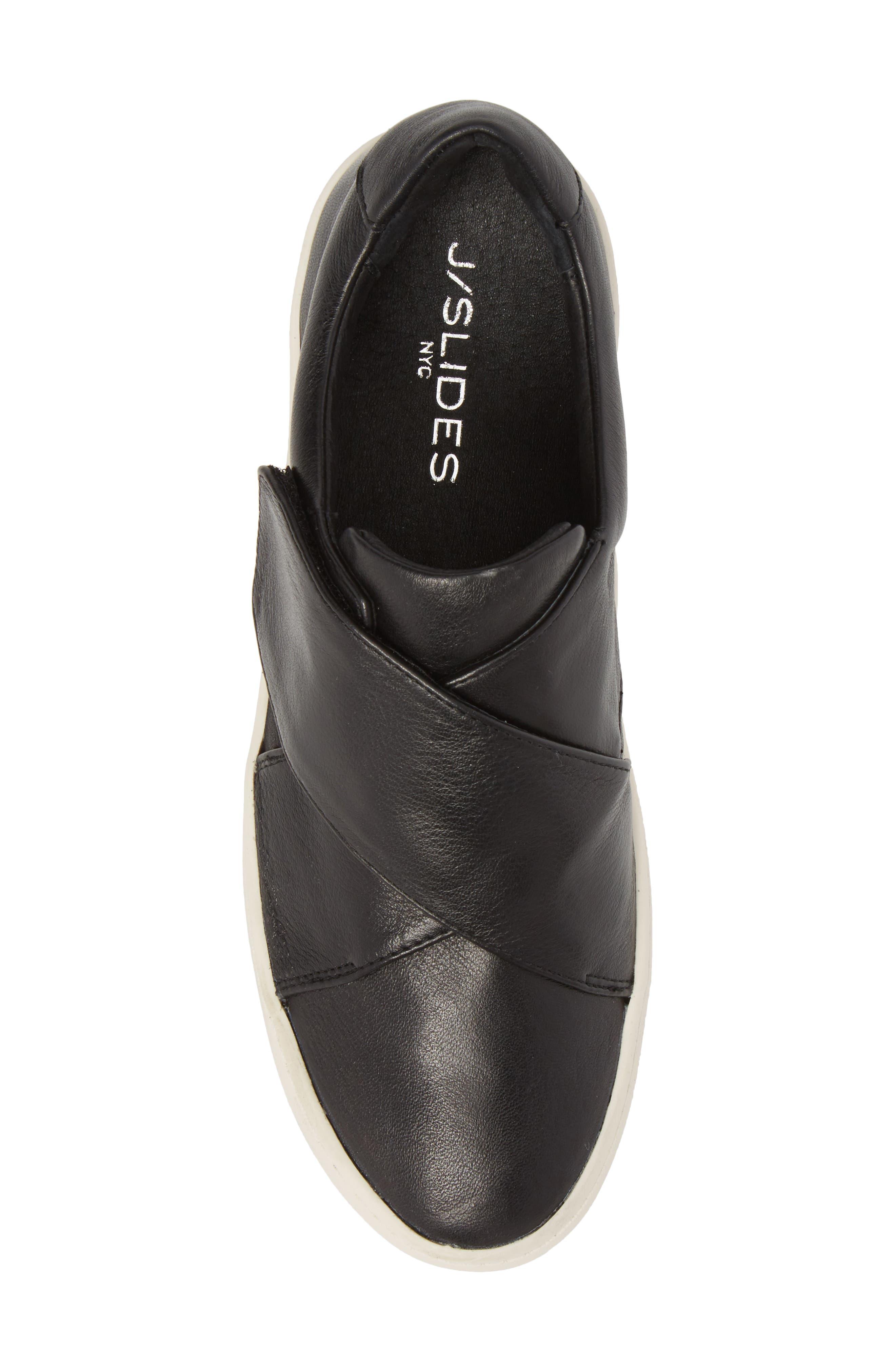Harper Sneaker,                             Alternate thumbnail 5, color,                             Black Leather