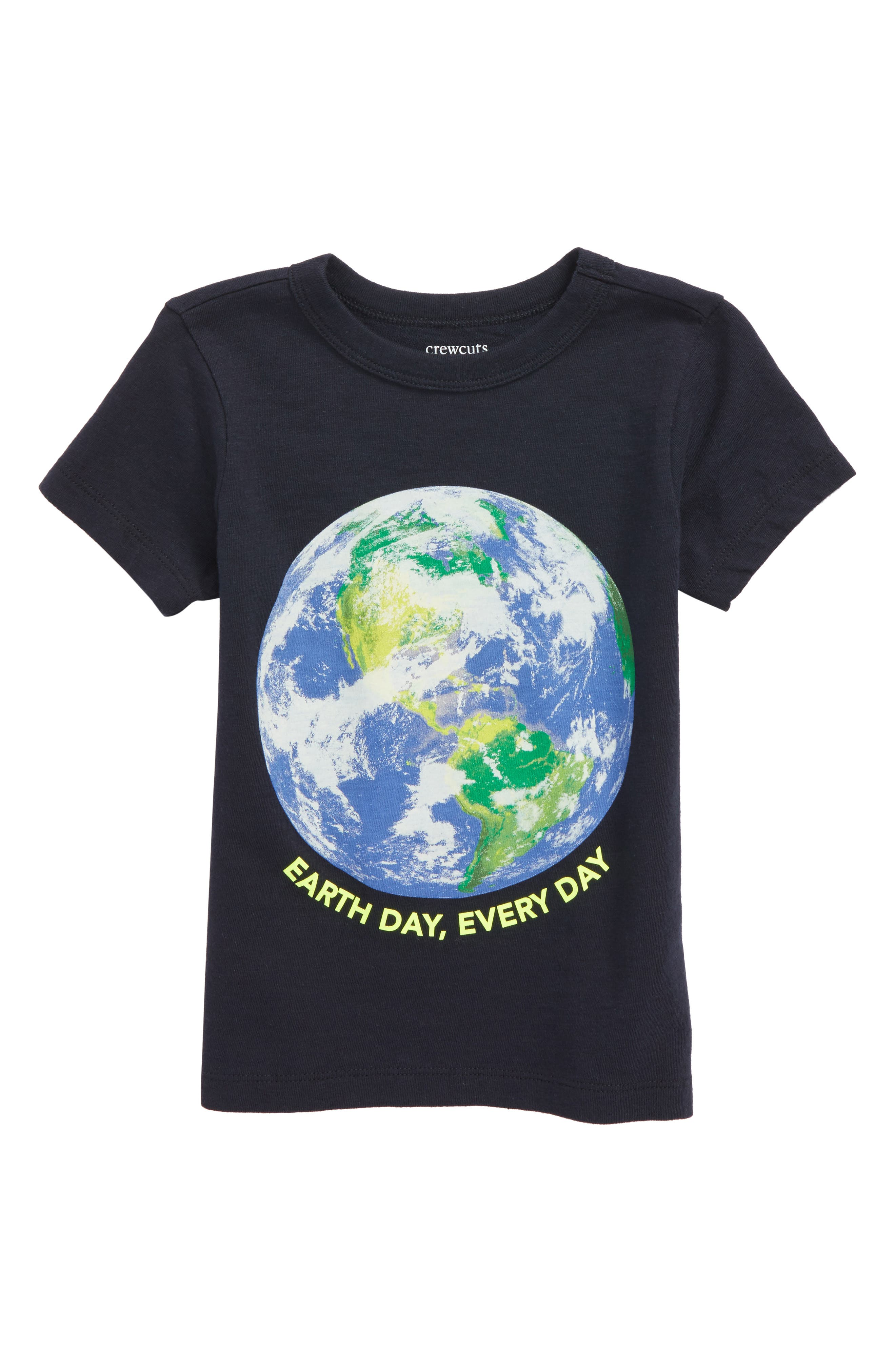 Earth Day Graphic T-Shirt,                             Main thumbnail 1, color,                             Dark Charcoal
