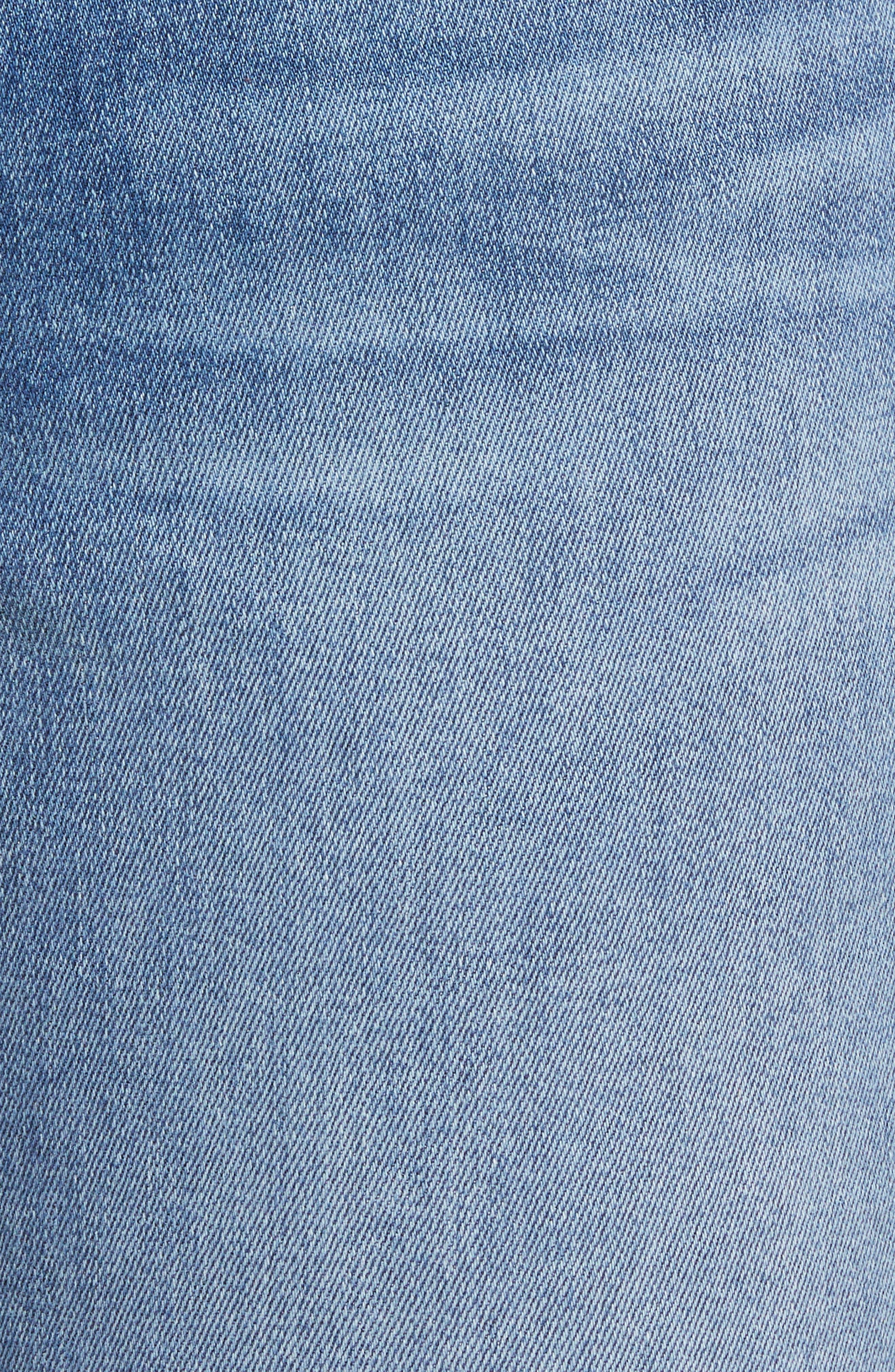 Raw Hem Skinny Jeans,                             Alternate thumbnail 6, color,                             Sunlight