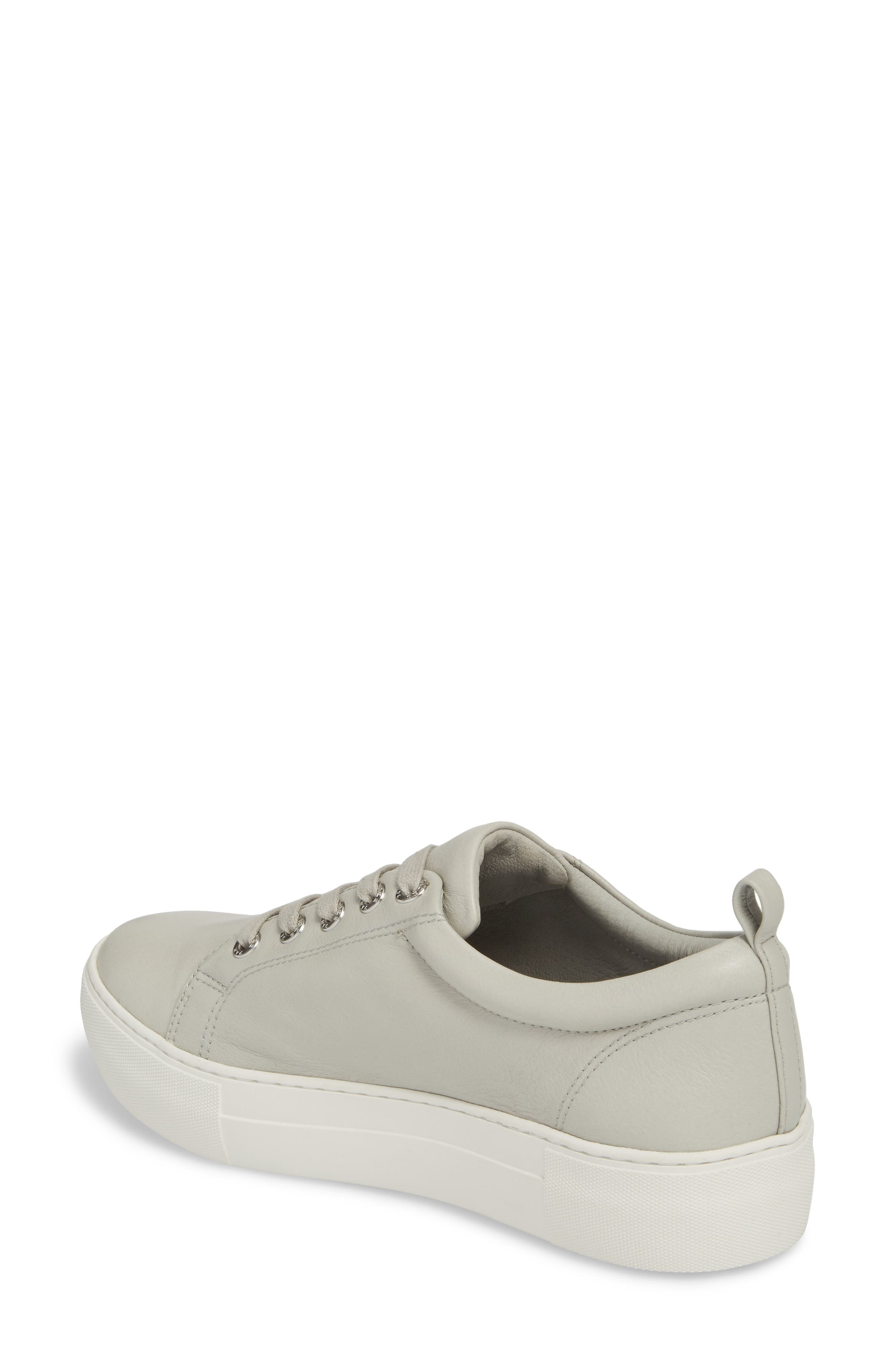 Adel Floral Sneaker,                             Alternate thumbnail 2, color,                             Light Grey Leather
