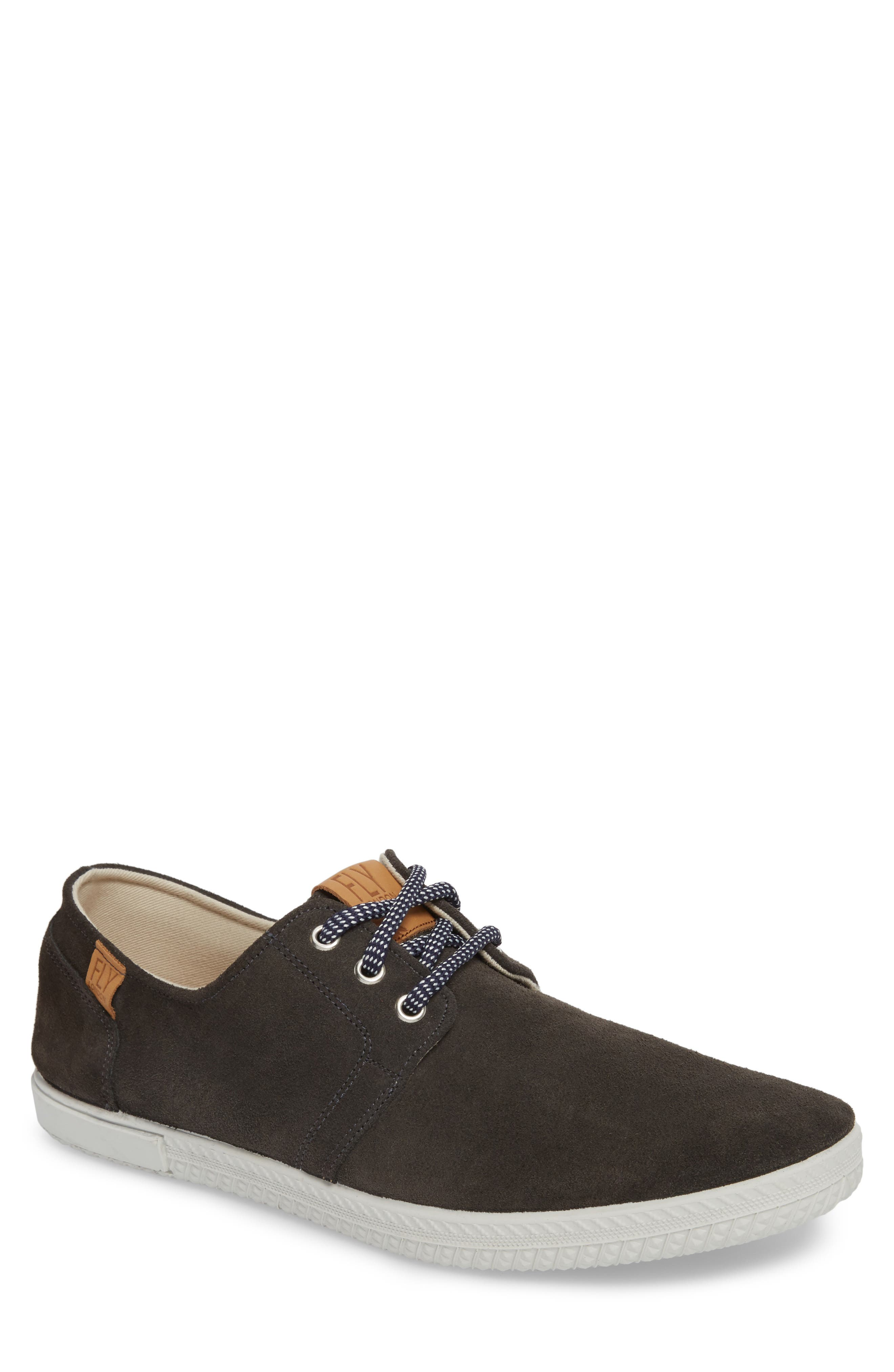Sesh Low Top Sneaker,                         Main,                         color, Anthracite Leather