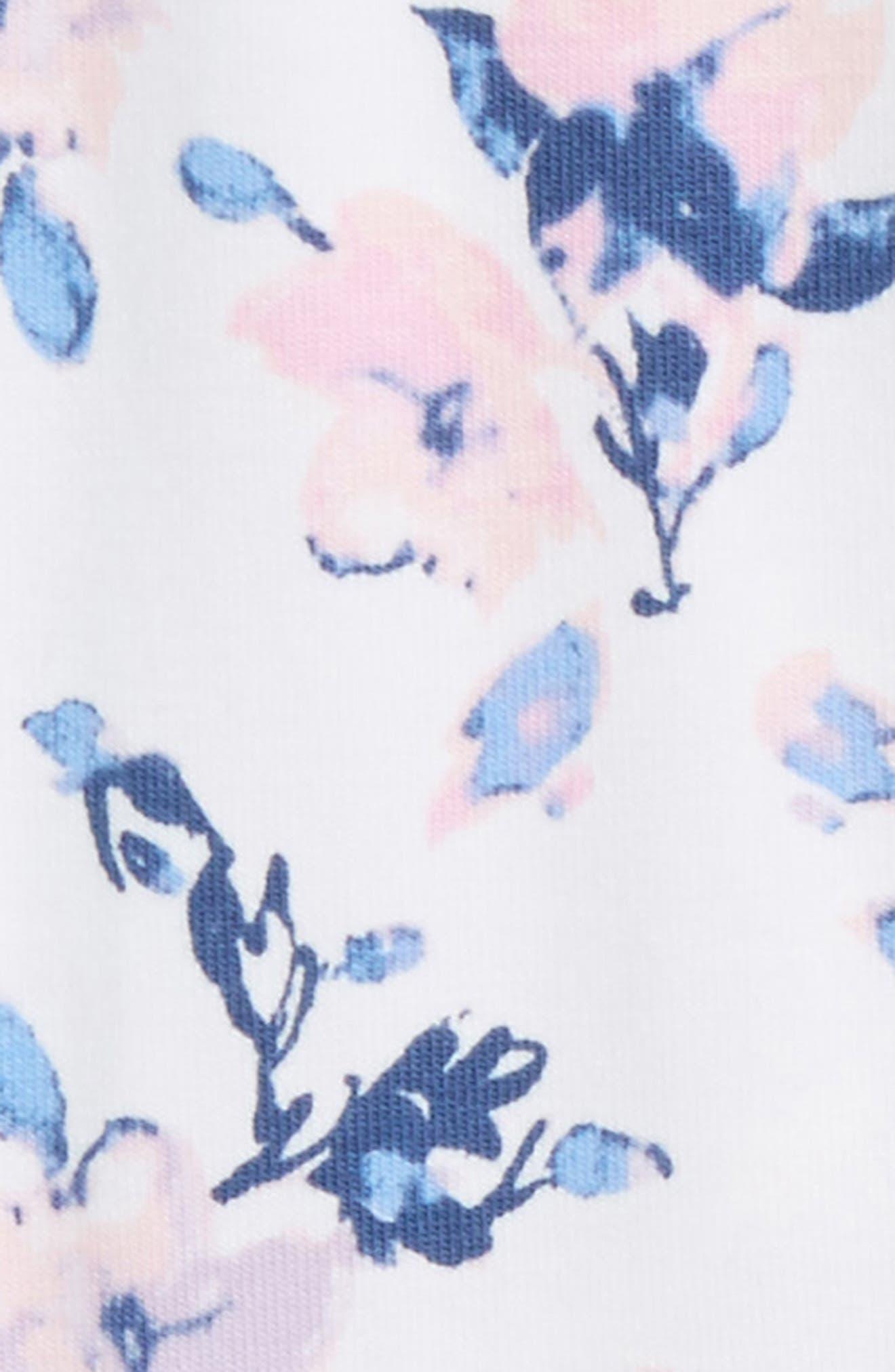 Floral Leggings,                             Alternate thumbnail 2, color,                             Optic White