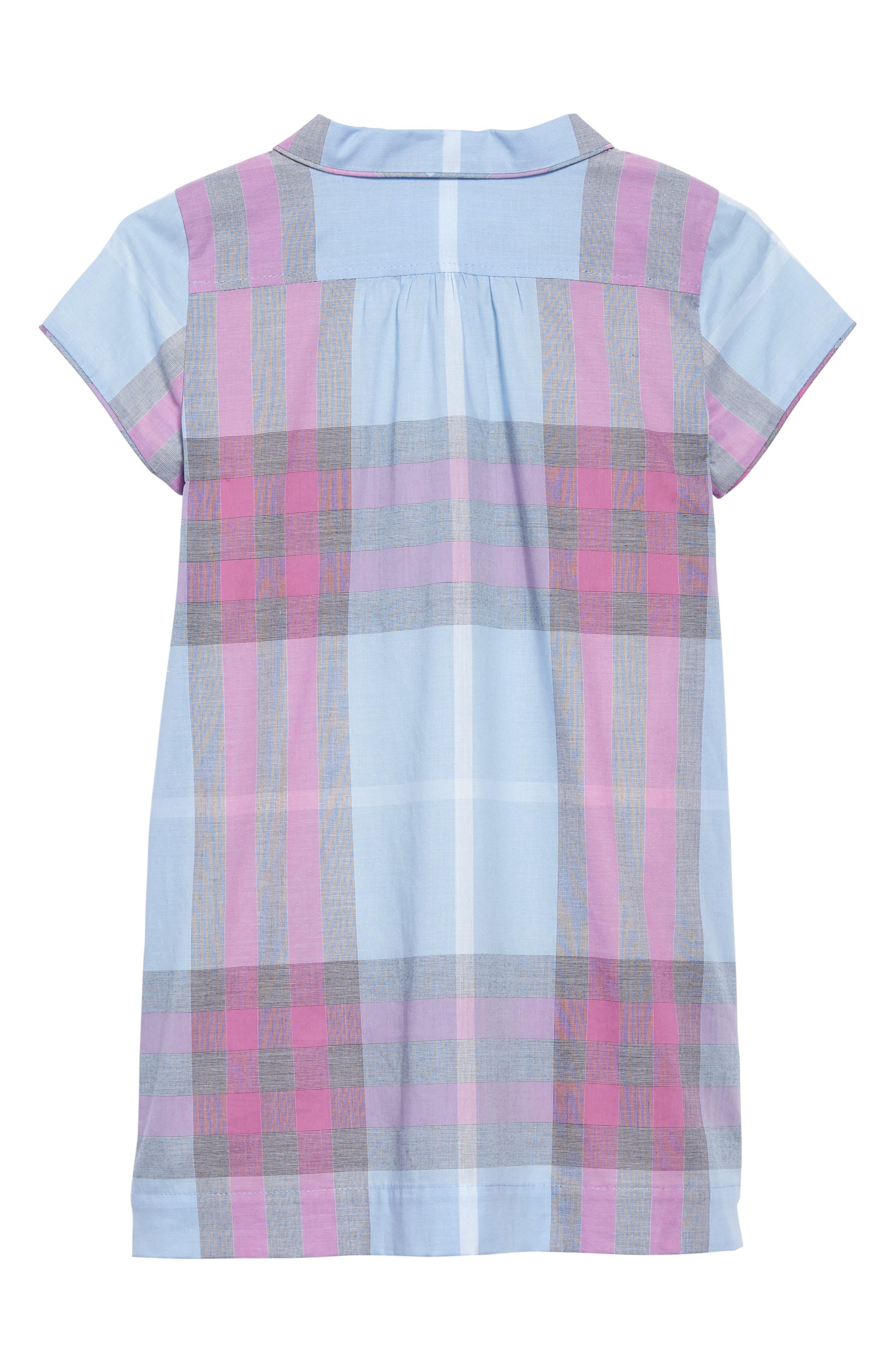 Taylor Check Dress,                             Alternate thumbnail 2, color,                             Chalk Blue