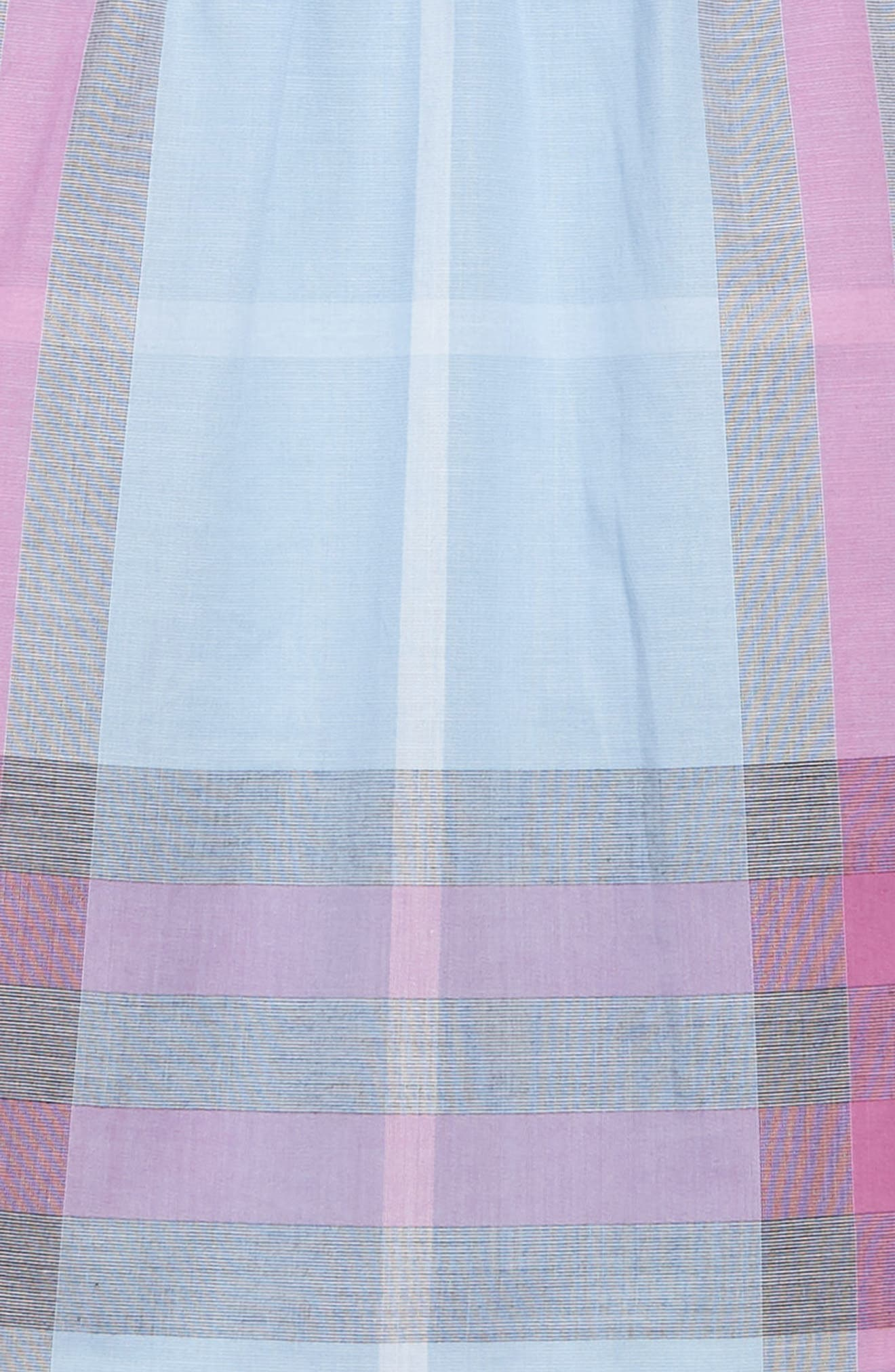 Taylor Check Dress,                             Alternate thumbnail 3, color,                             Chalk Blue