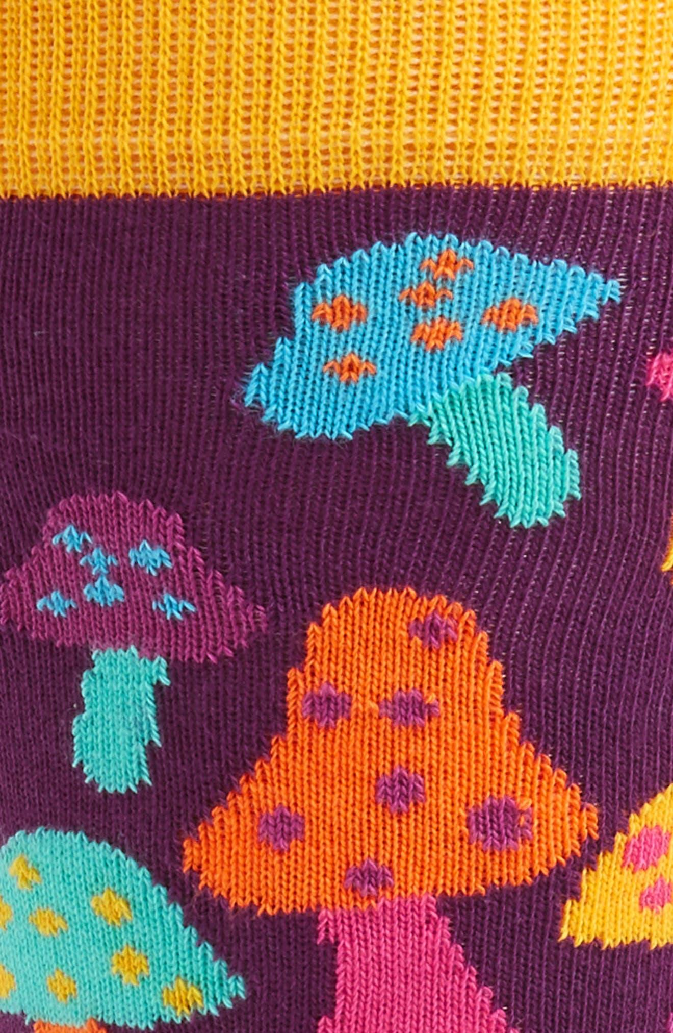 Mushroom Socks,                             Alternate thumbnail 2, color,                             Purple Multi