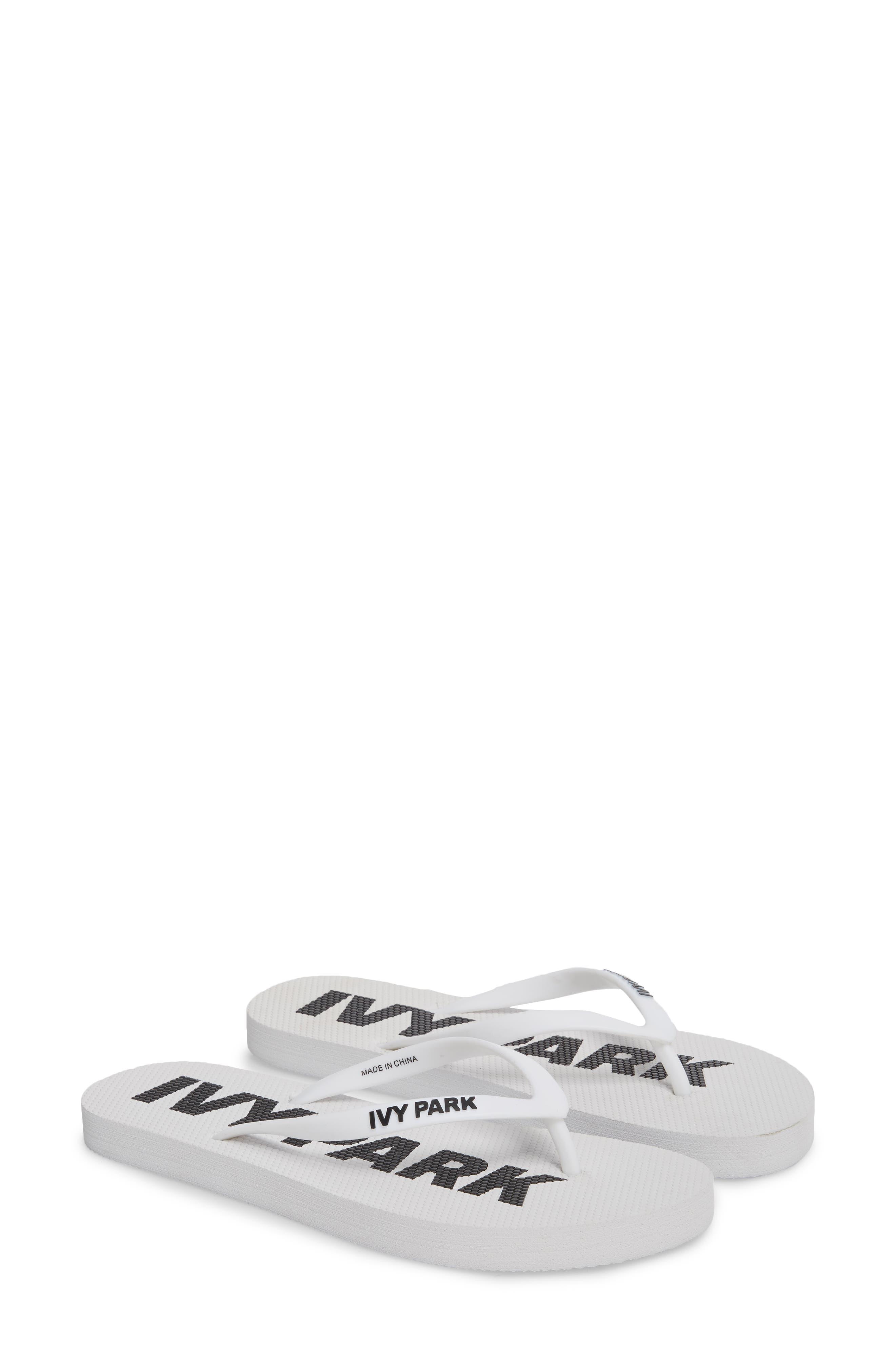 Logo Flip Flop,                         Main,                         color, White