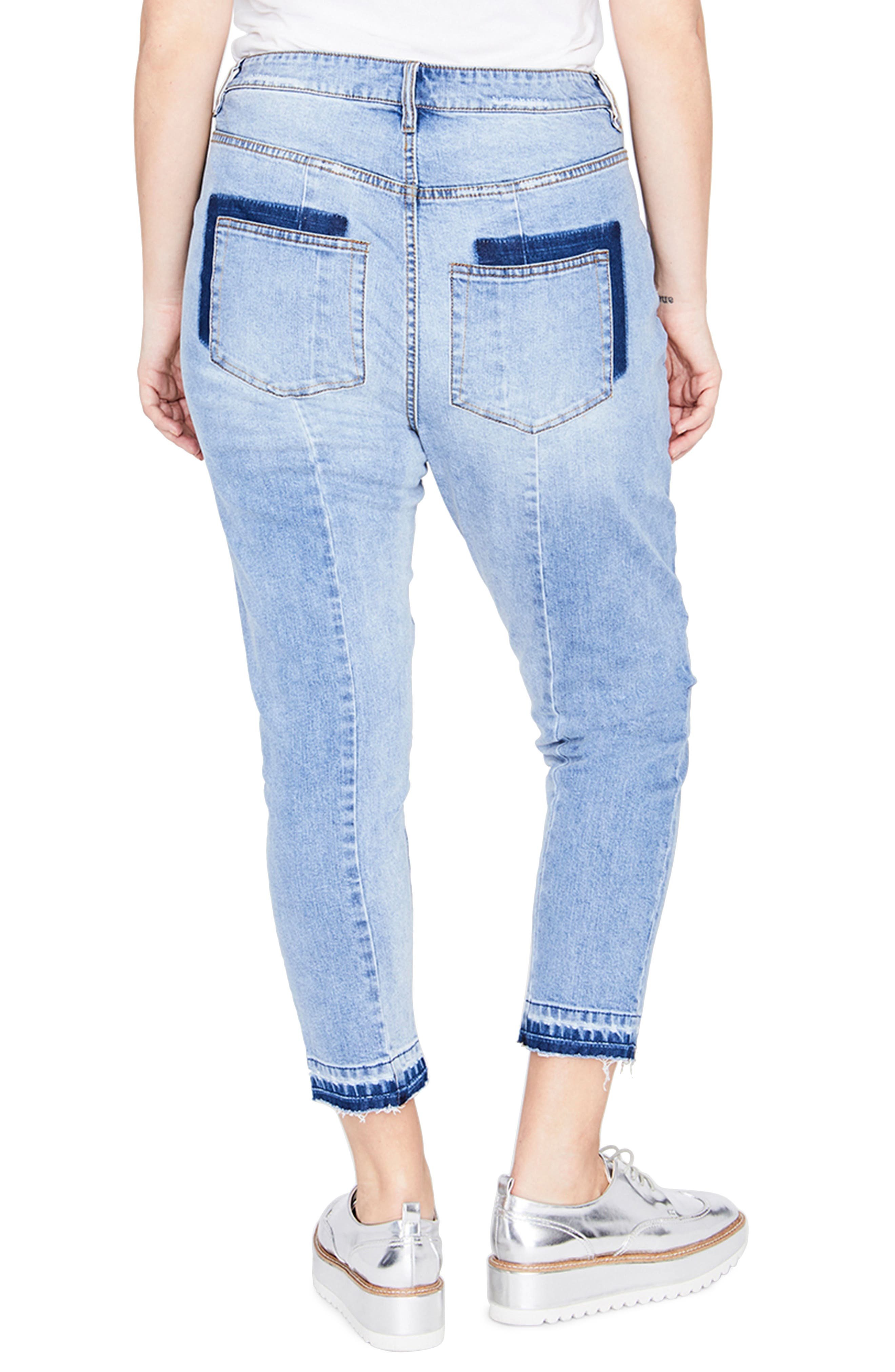 Curvy Seamed Crop Jeans,                             Alternate thumbnail 2, color,                             Valance Wash