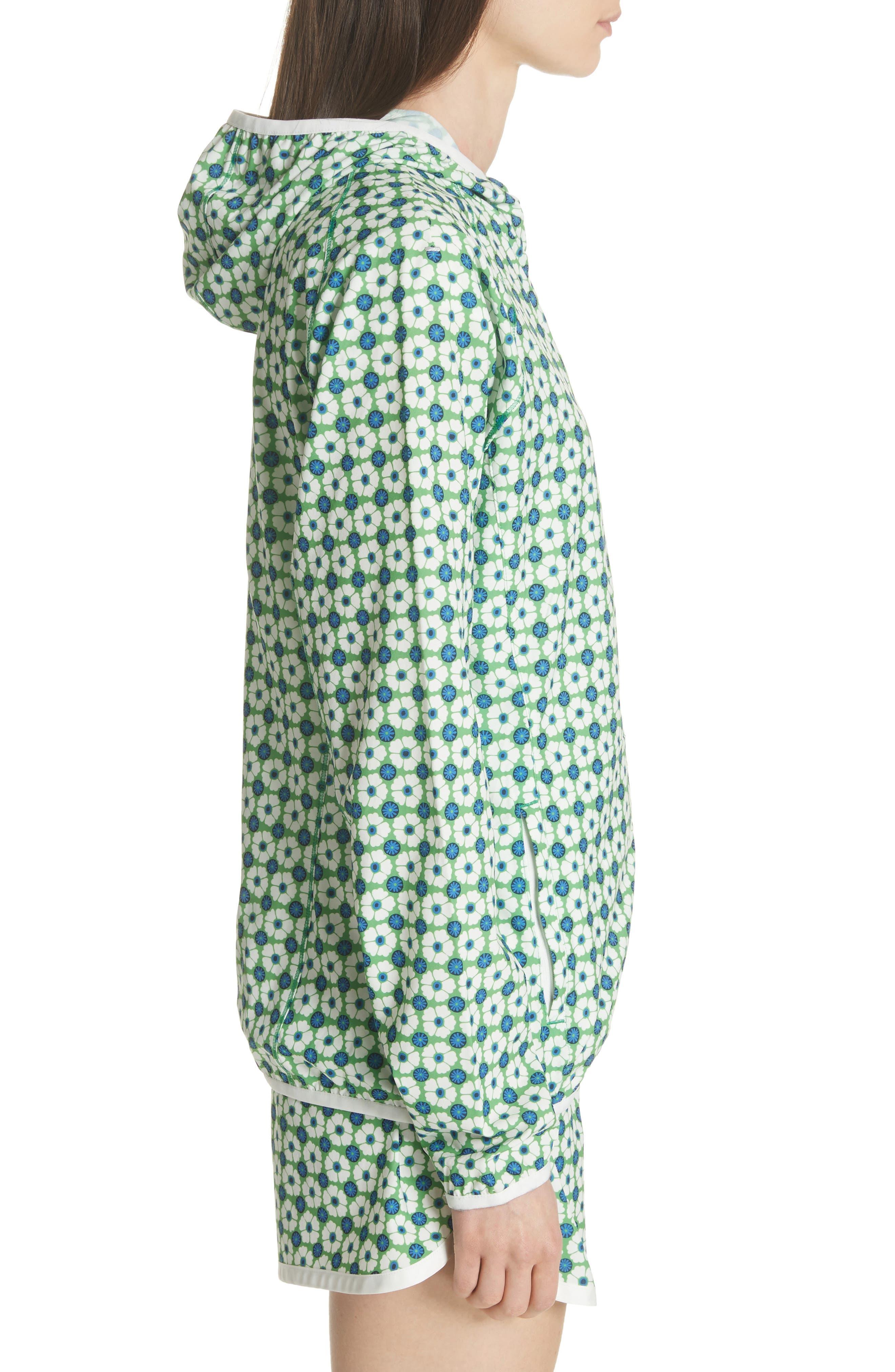 Print Packable Jacket,                             Alternate thumbnail 3, color,                             Scarf Blue Floral