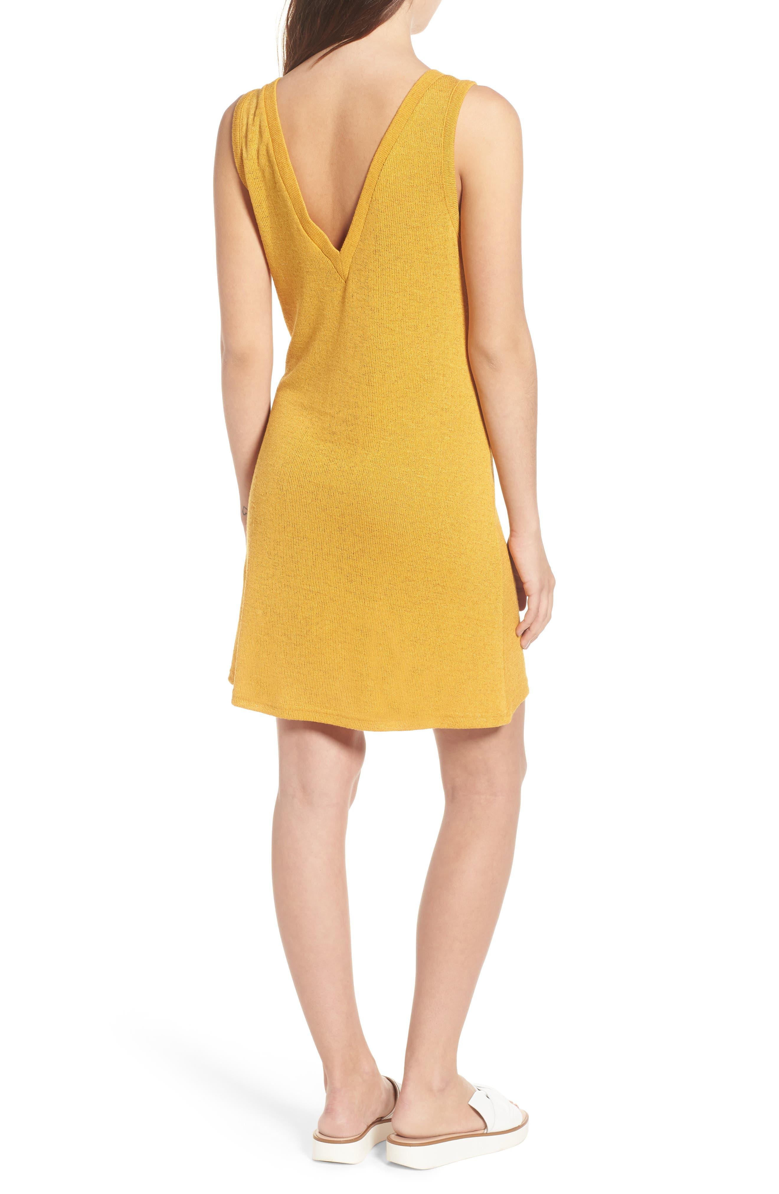 Heat Rising Lace-Up Dress,                             Alternate thumbnail 3, color,                             Saffron