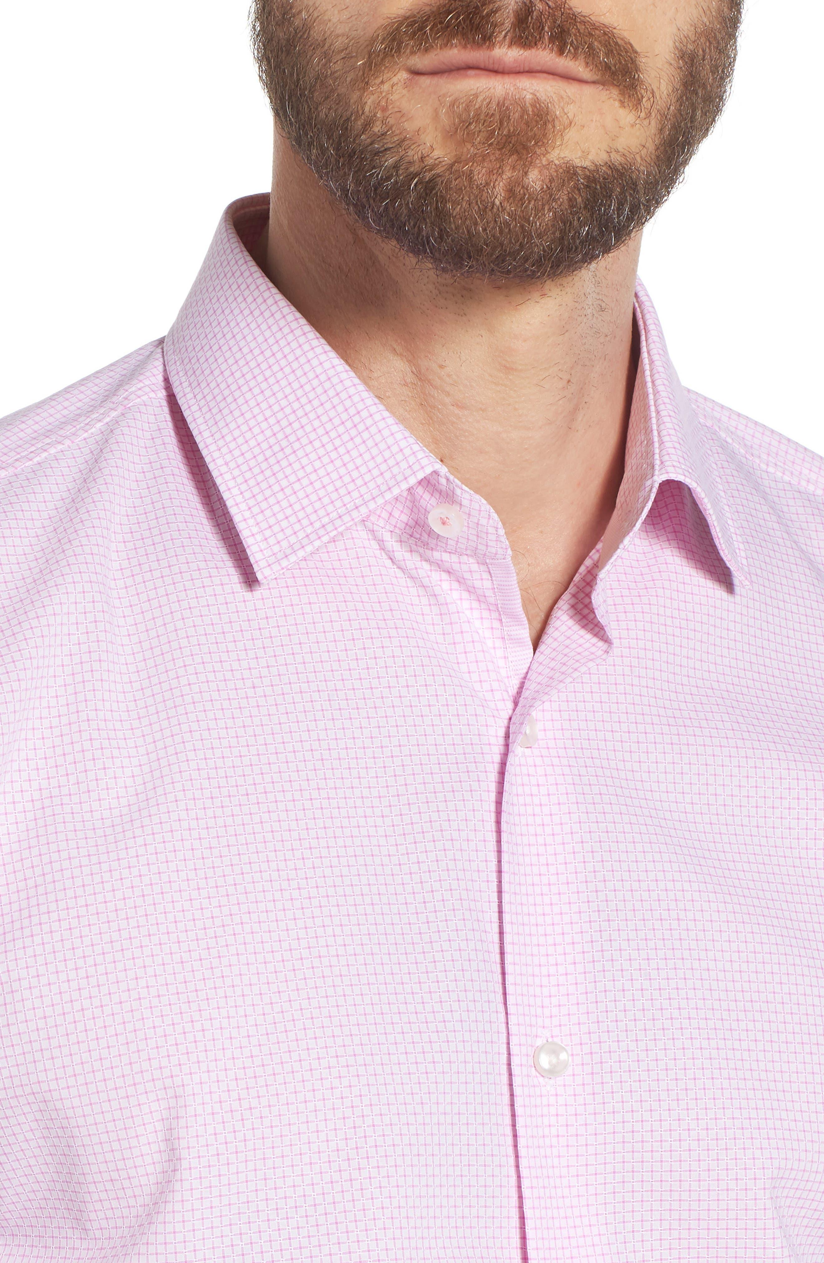Jesse Slim Fit Check Dress Shirt,                             Alternate thumbnail 2, color,                             Pink