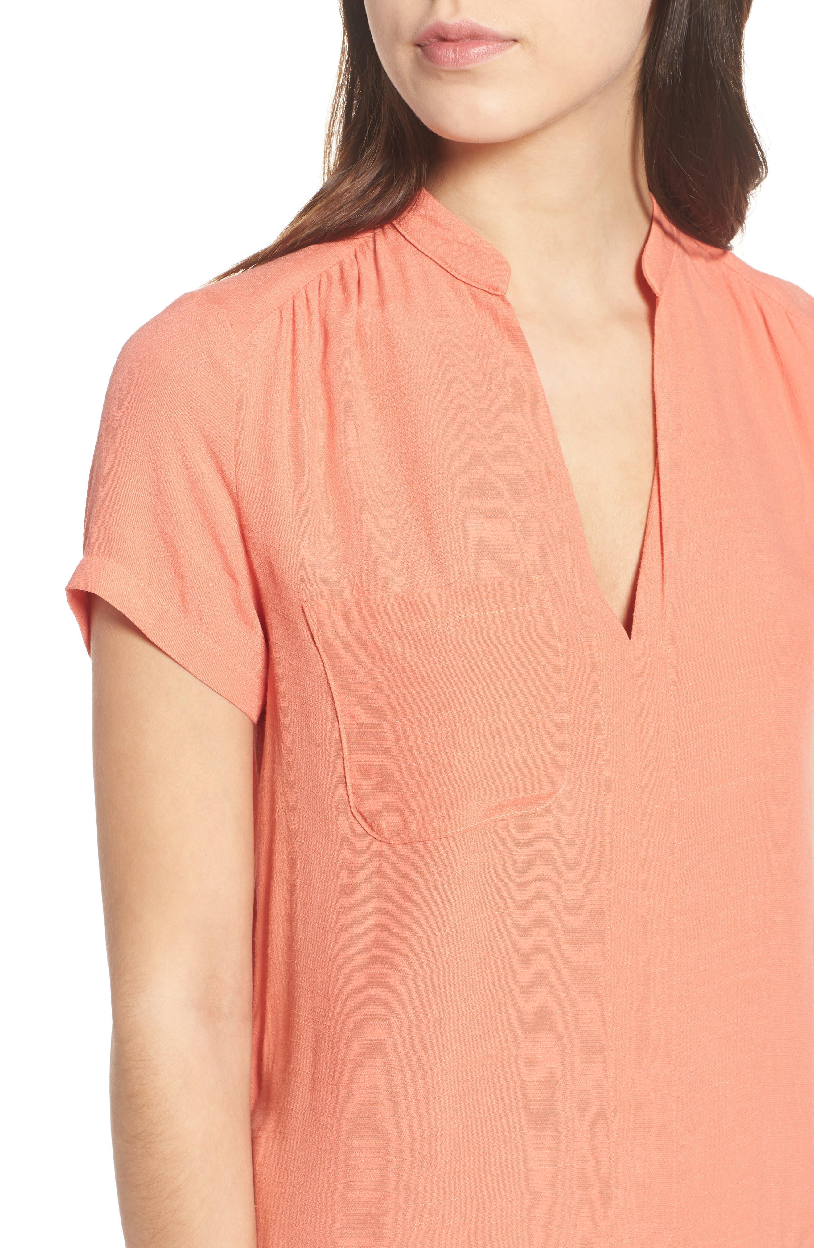 Alternate Image 4  - Split Neck Shift Dress
